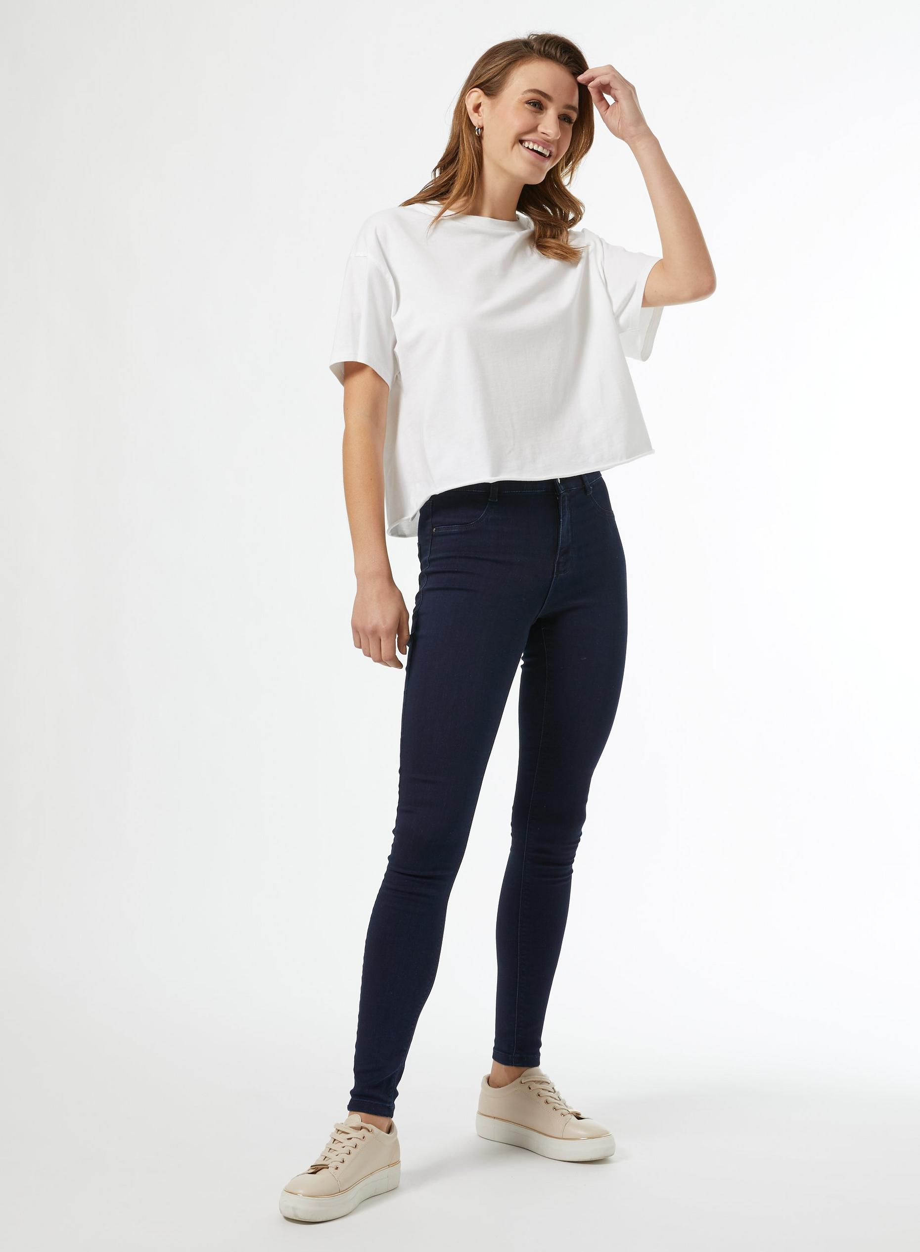 Blue Black Regular Frankie Skinny Jeans