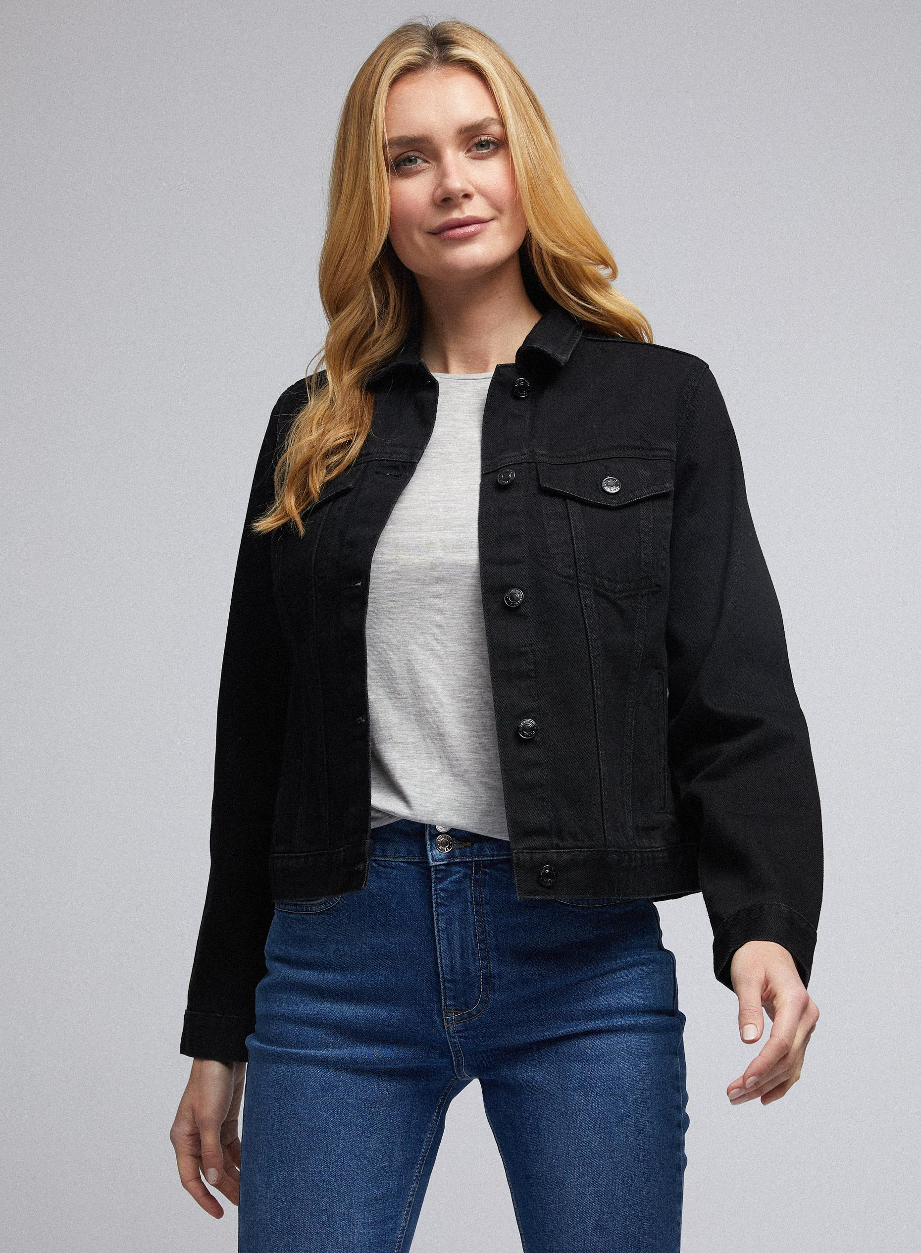 Black Organic Cotton Denim Jacket