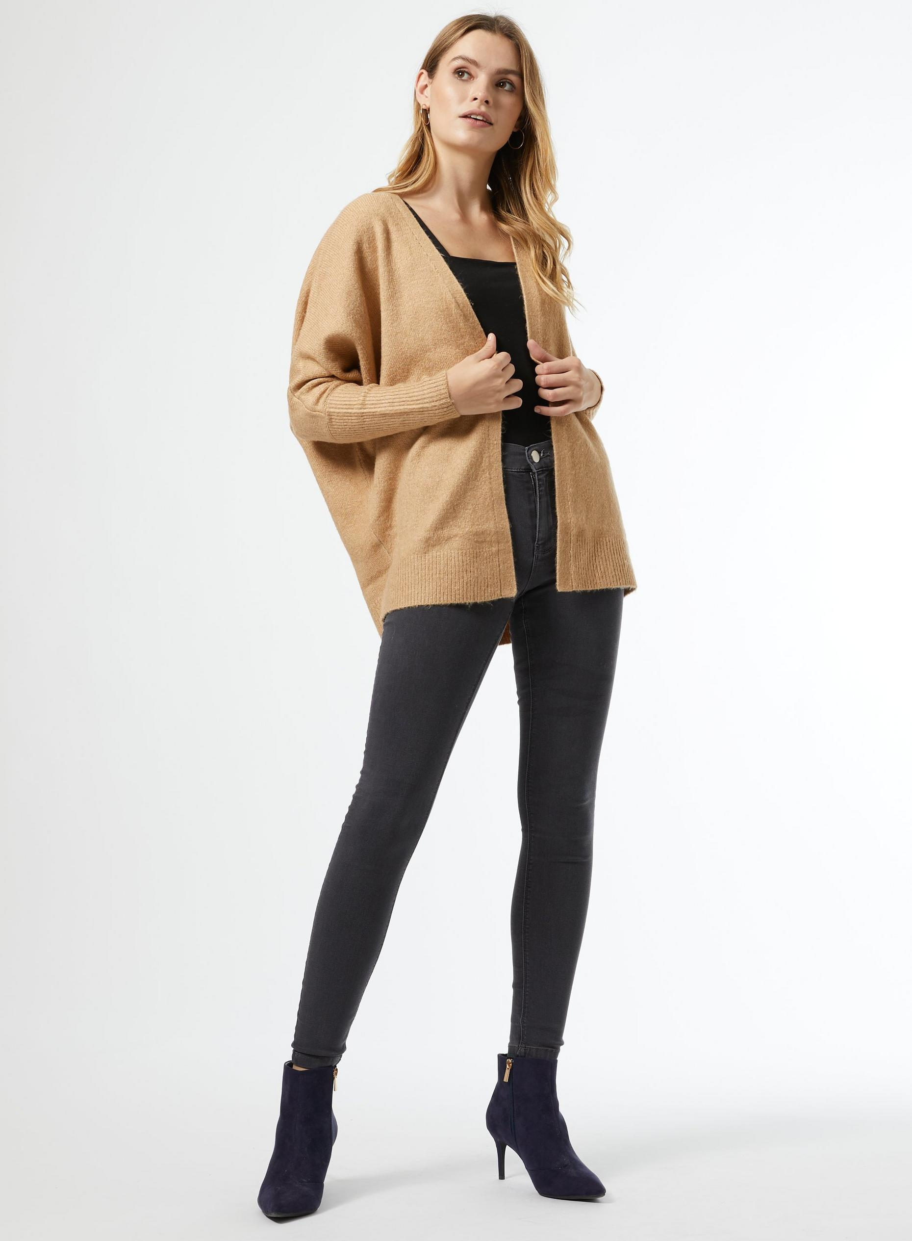 Camel Edge to Edge Cardigan
