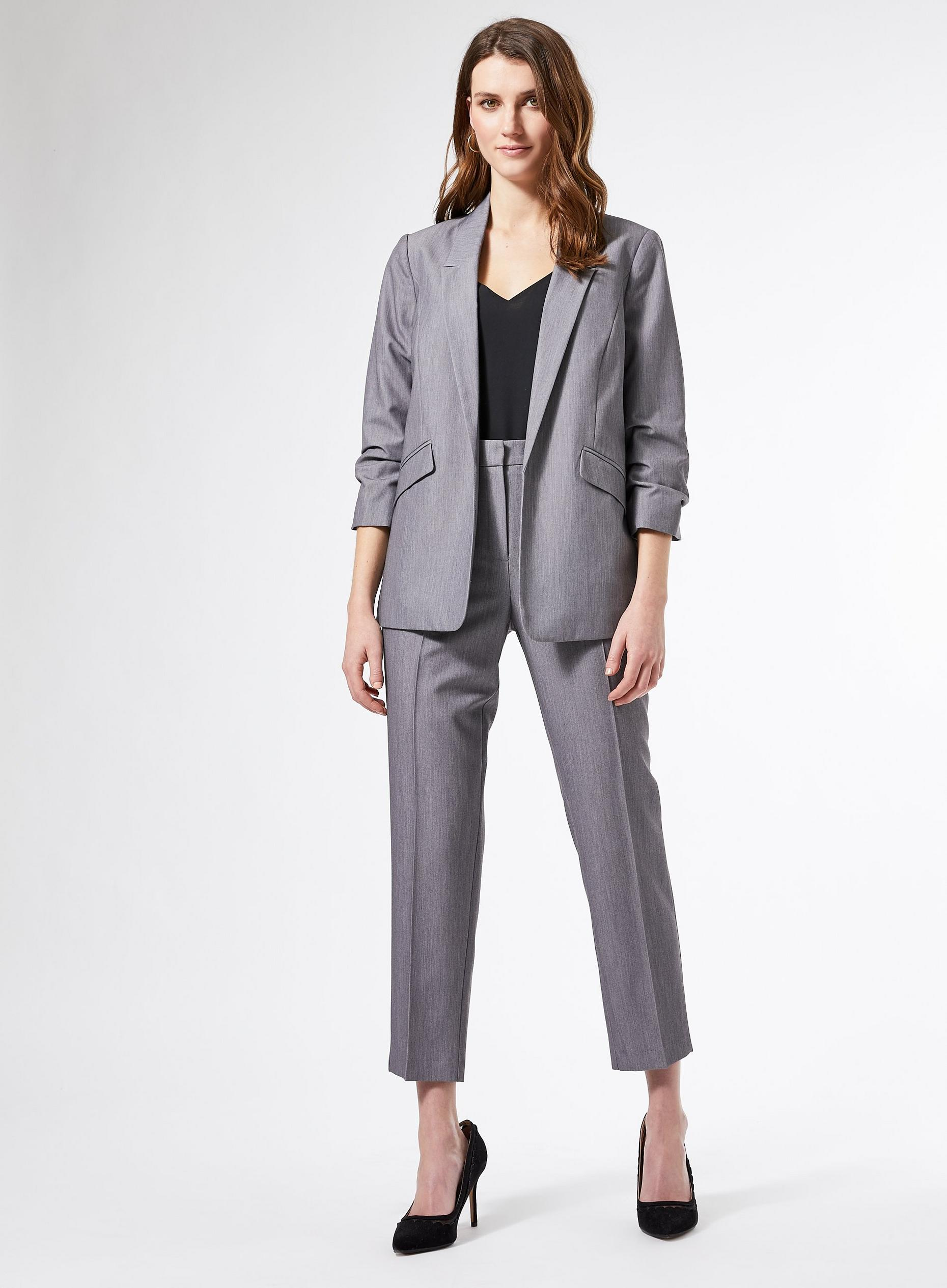 Dark Grey Ankle Grazer Trousers
