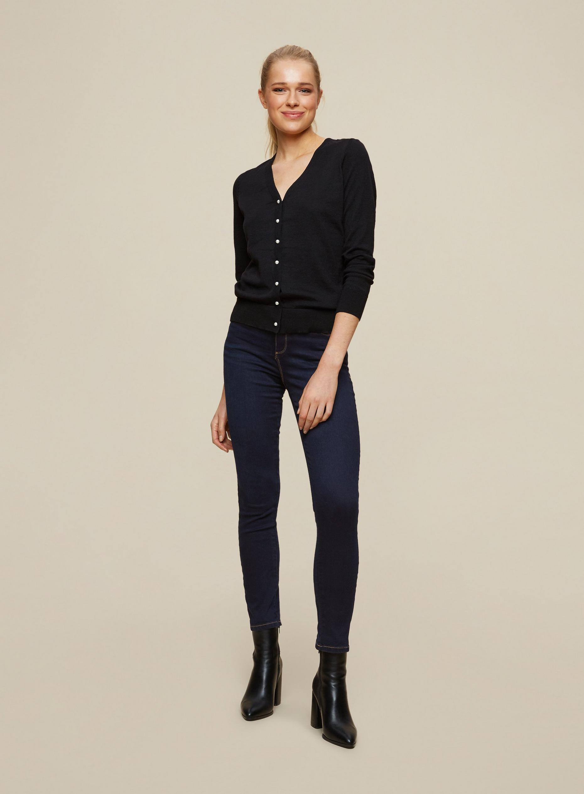Blue Black Regular Ellis Slim Jeans