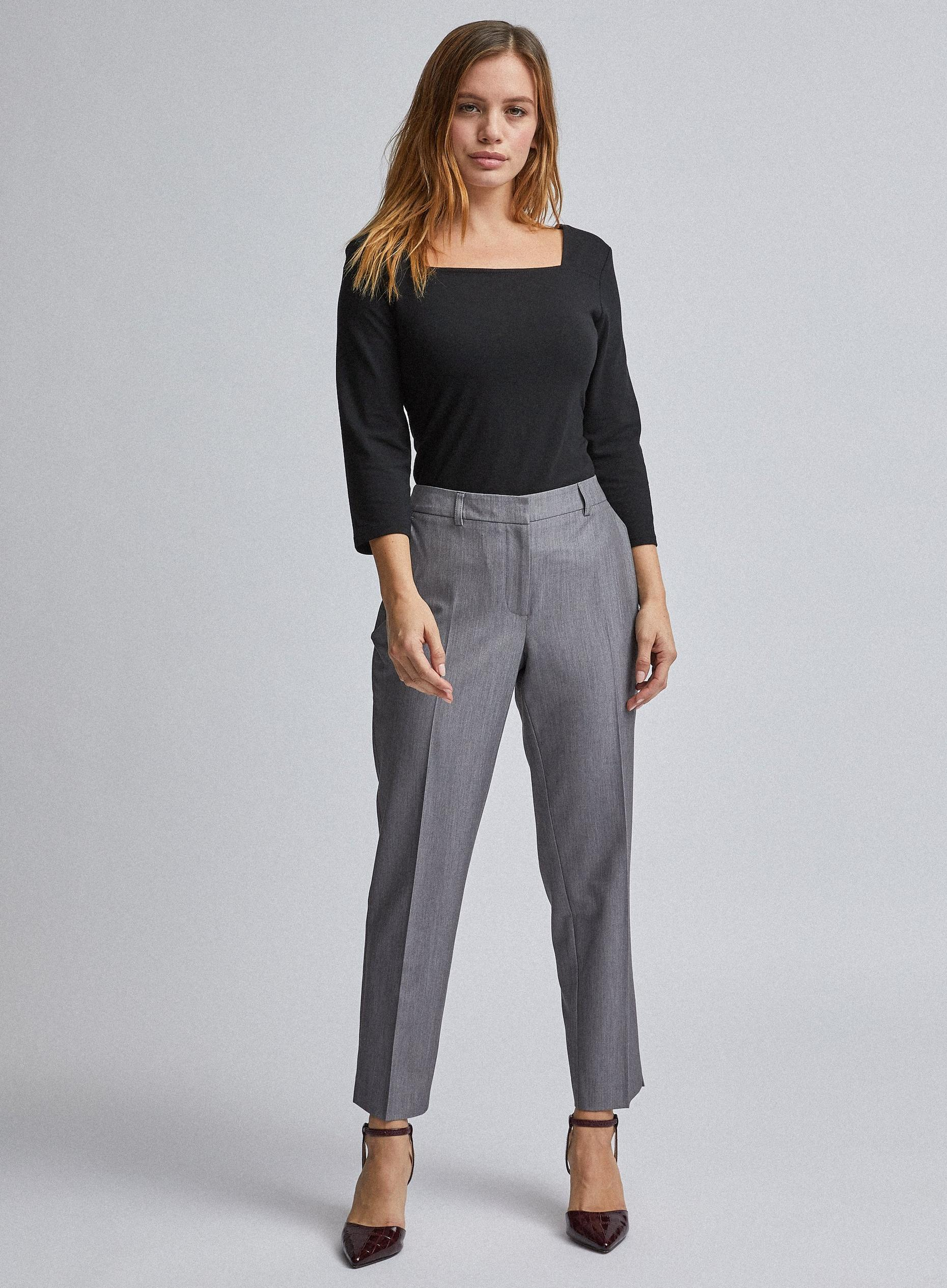 Petites Dark Grey Ankle Grazer Trousers