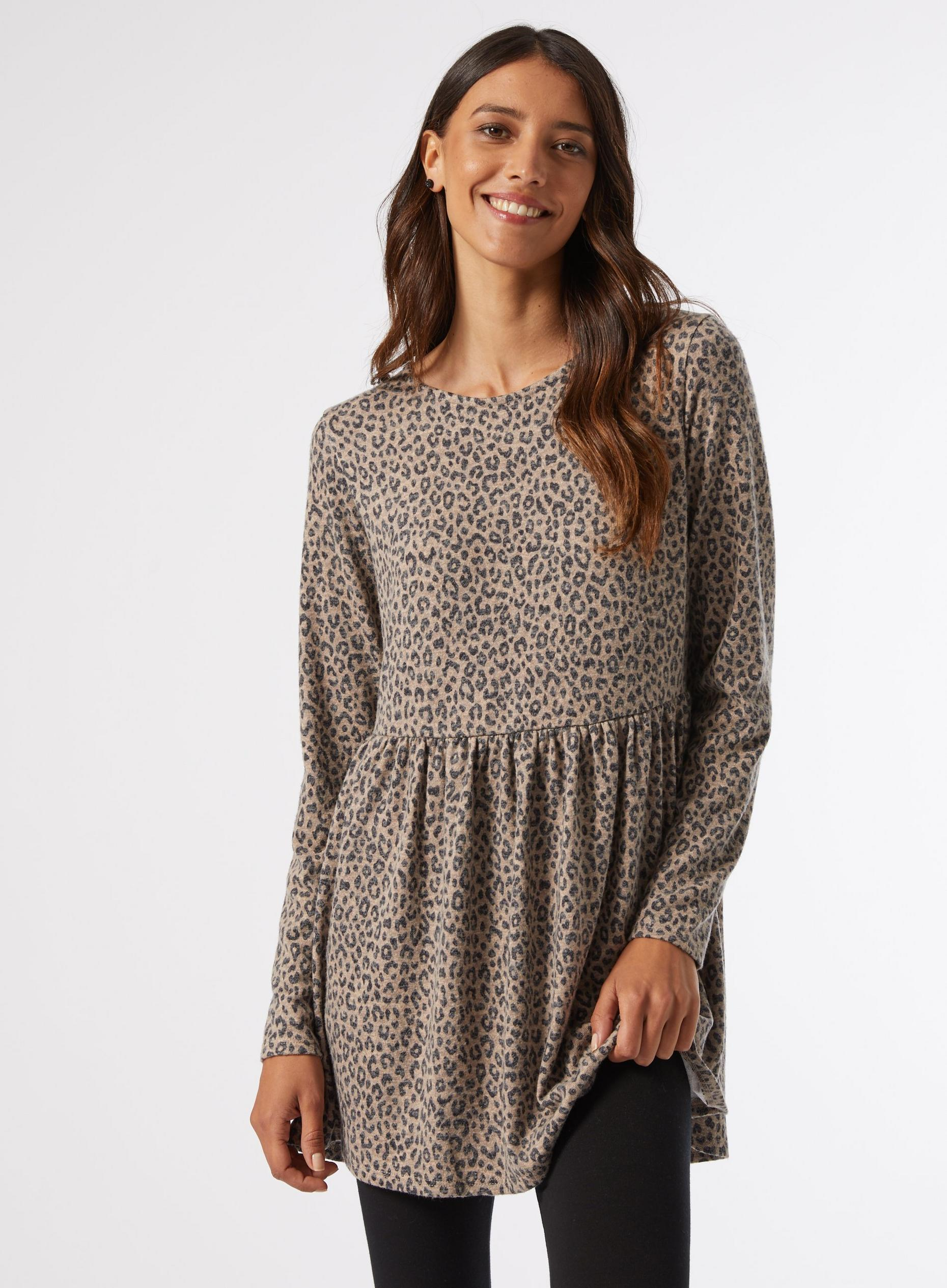 Animal Print Soft Touch Tunic