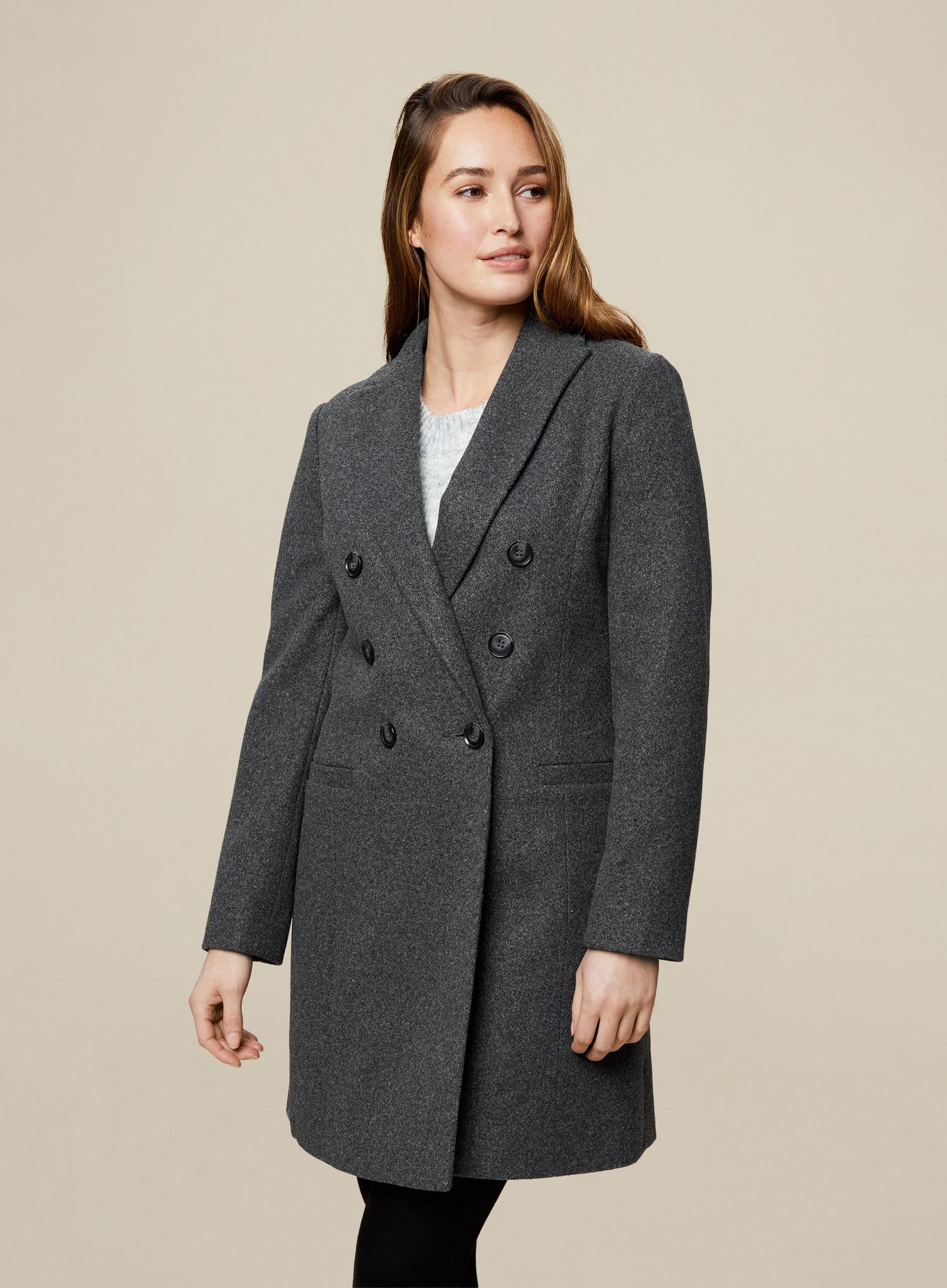 131 Grey Double Breasted Coat image number 1