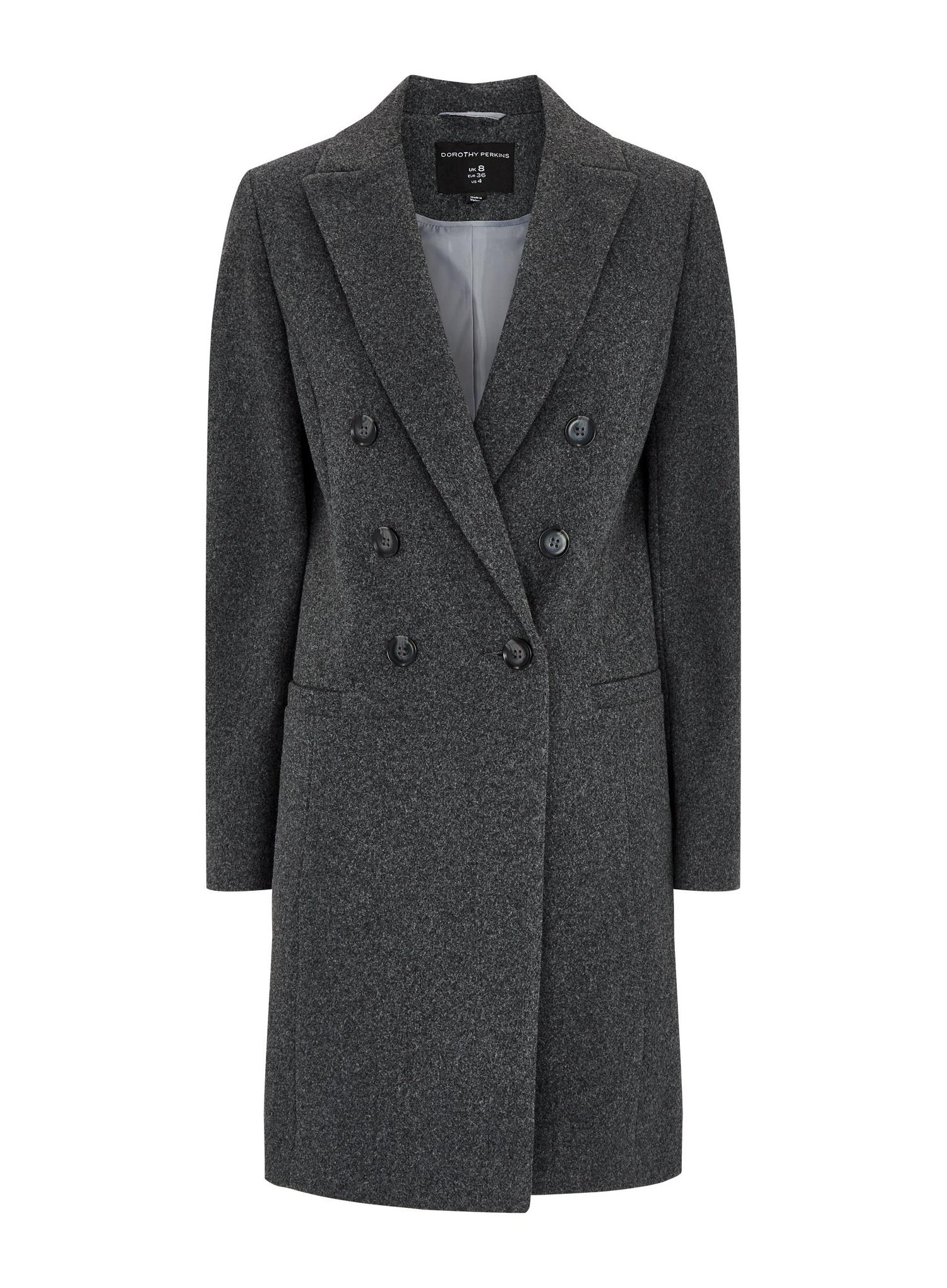 131 Grey Double Breasted Coat image number 2