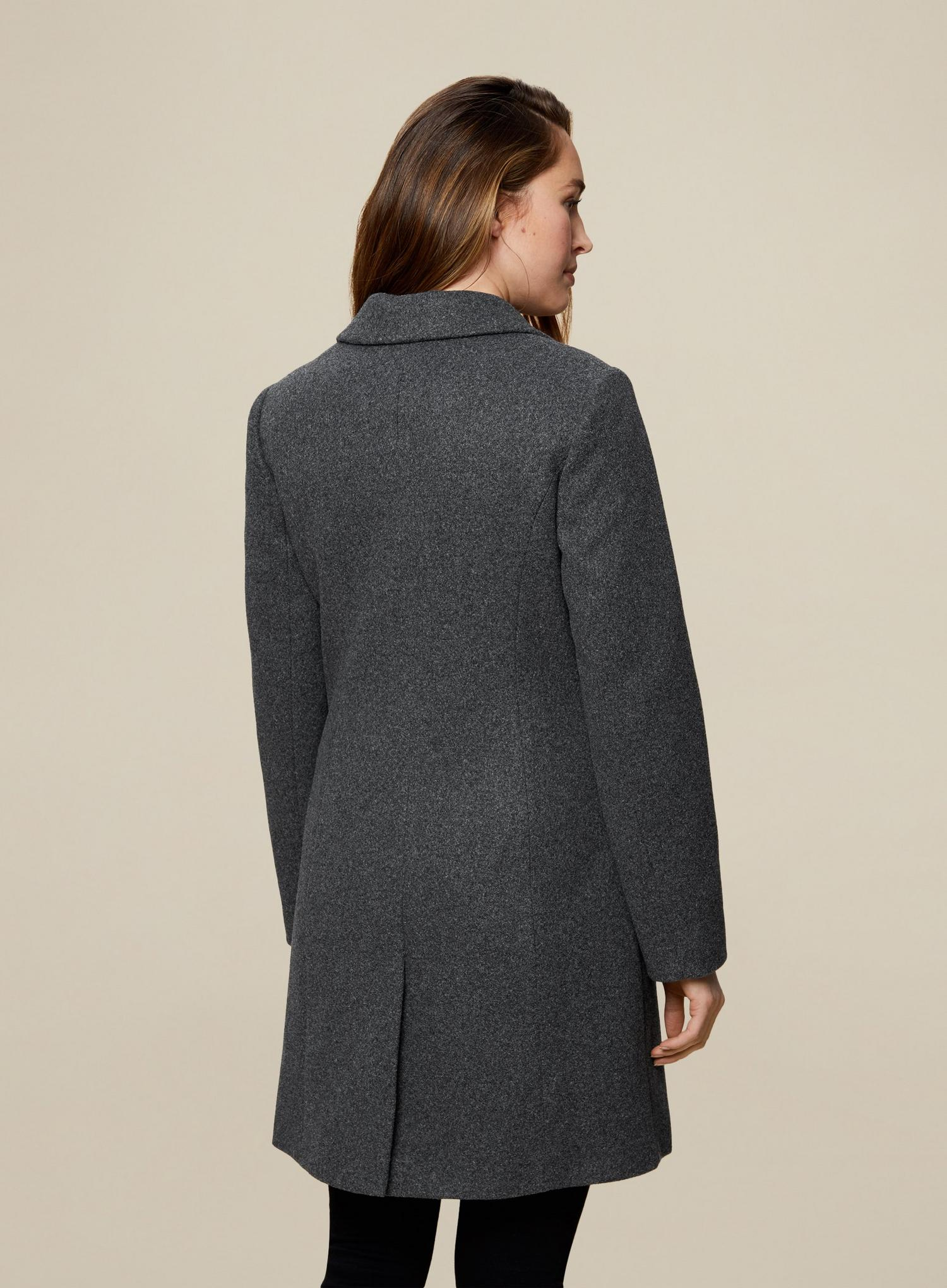 131 Grey Double Breasted Coat image number 4