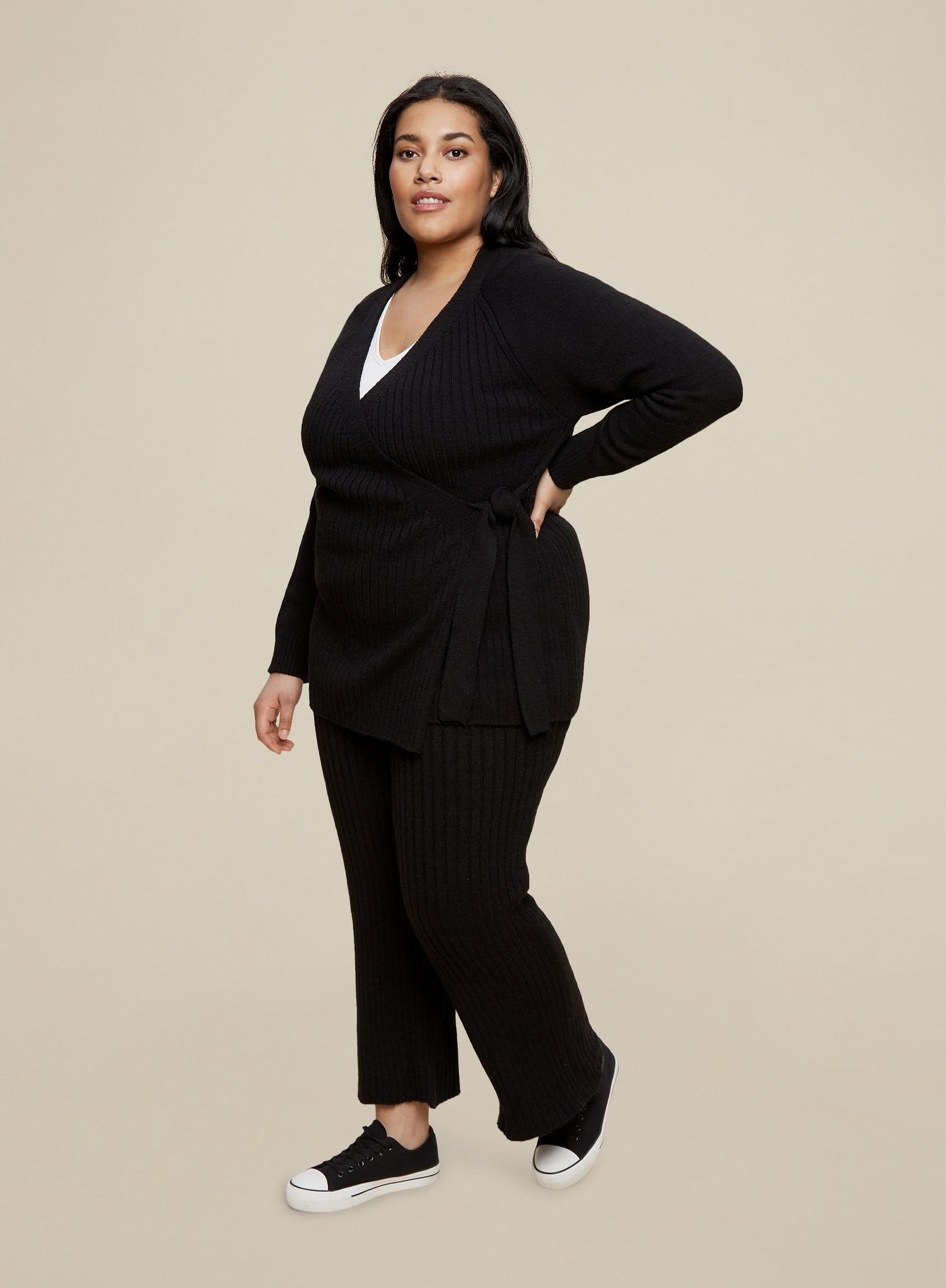 105 Curve Black Wrap Cardigan image number 2