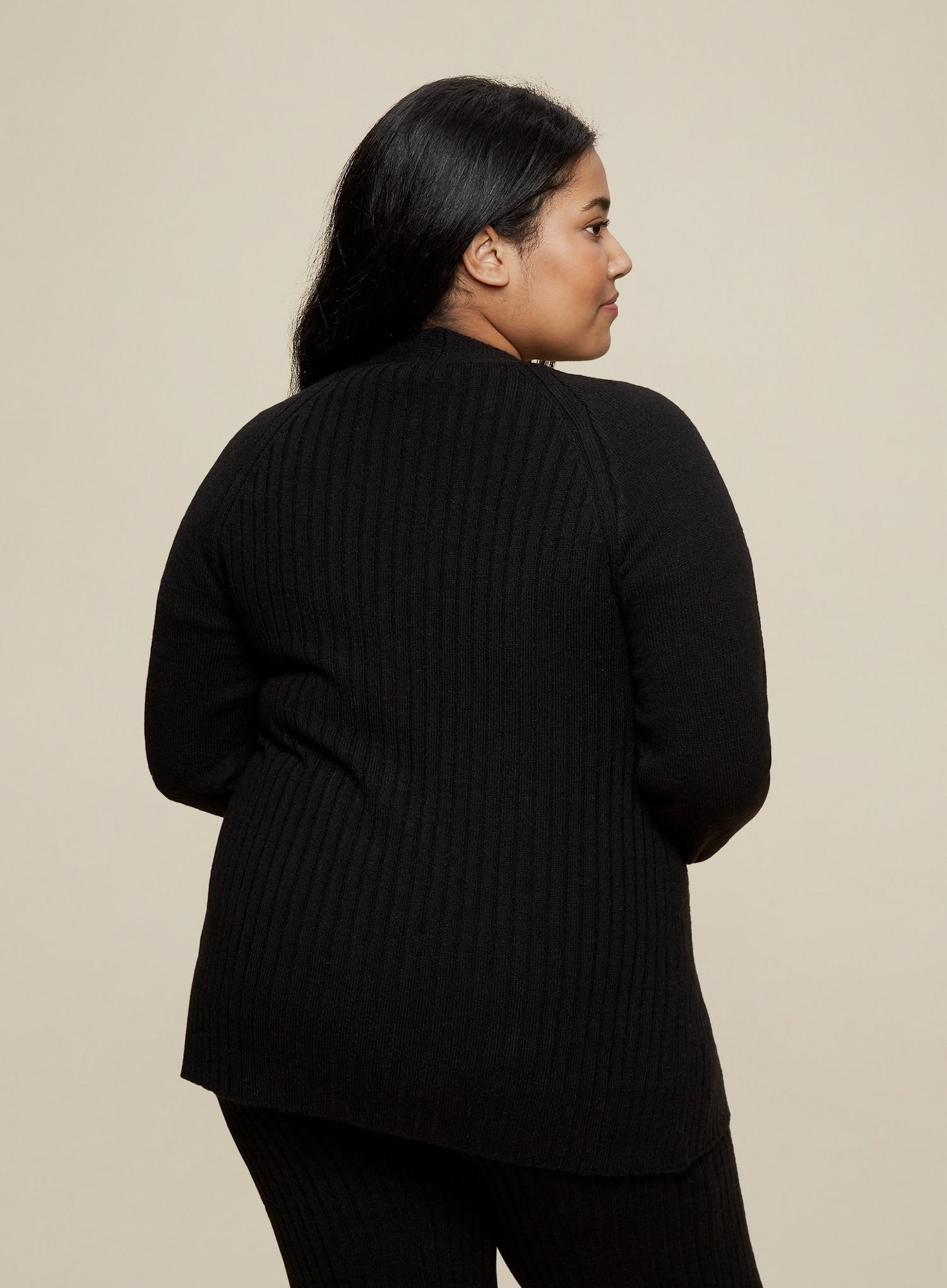 105 Curve Black Wrap Cardigan image number 3