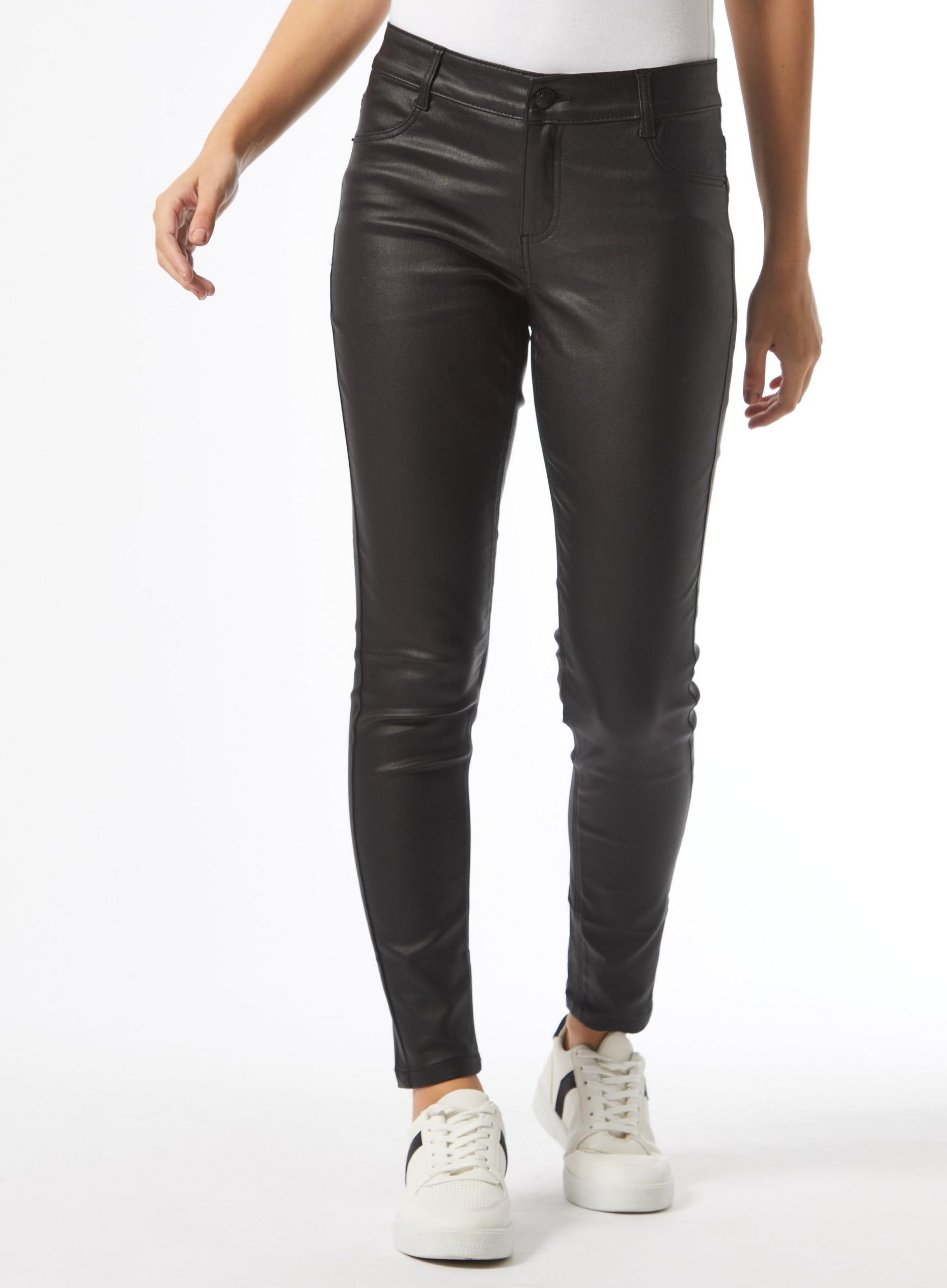 Petites Black Coated Frankie Jeans