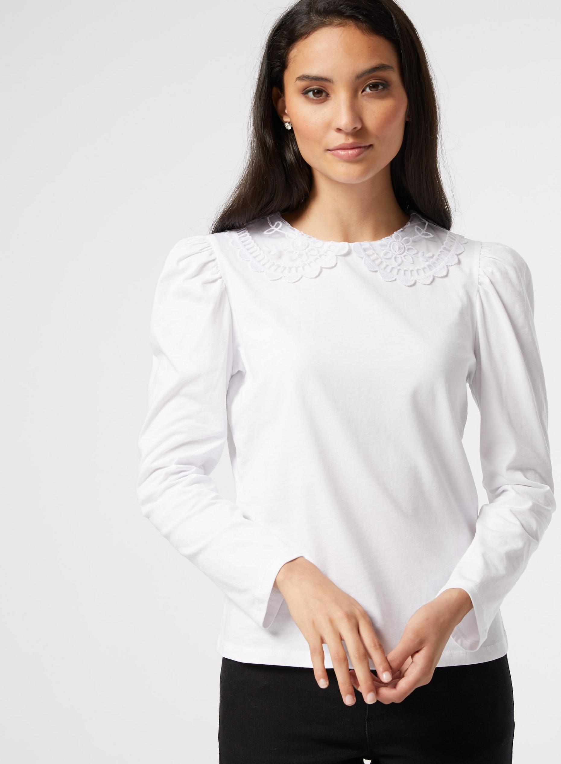 DP Petite White Puff Sleeve Top