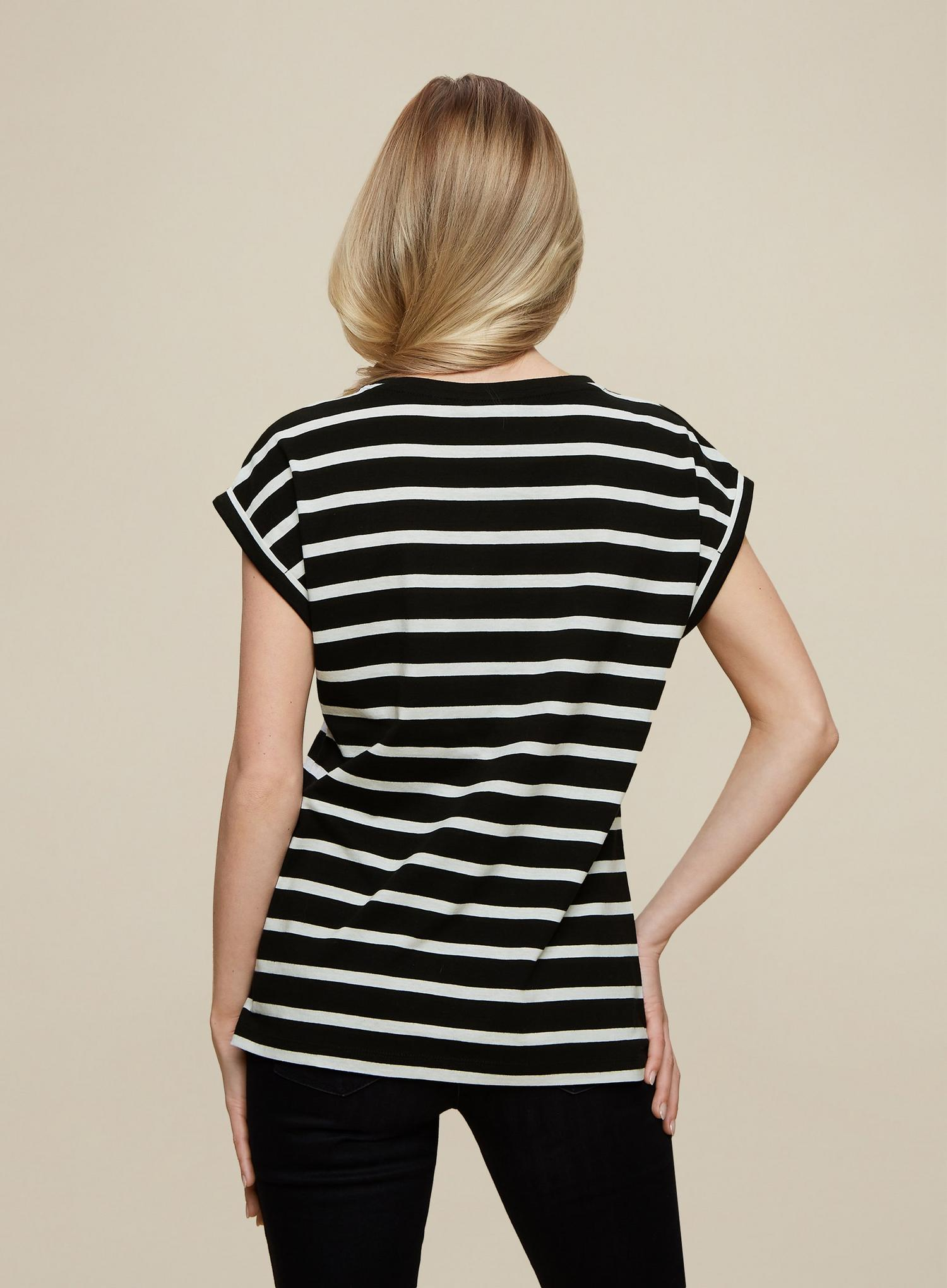105 Organic Cotton Black Stripe Roll Sleeve  image number 4