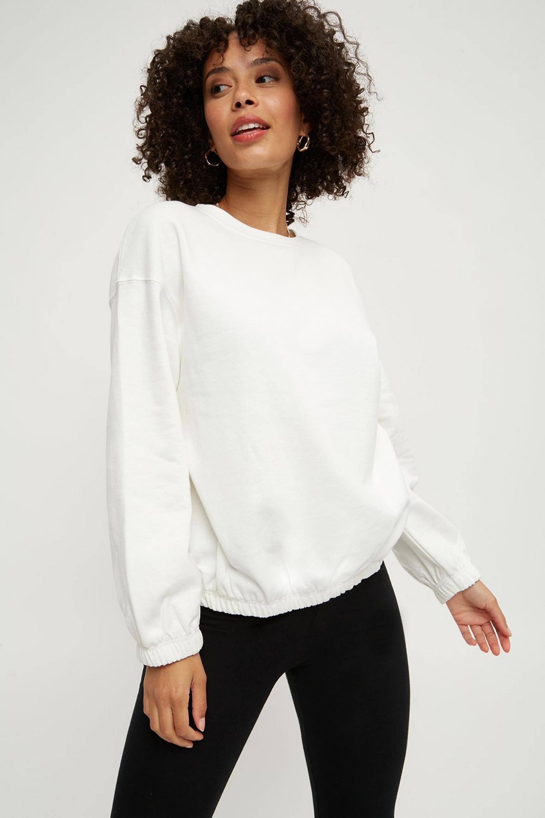 Elasticated Hem Sweatshirt