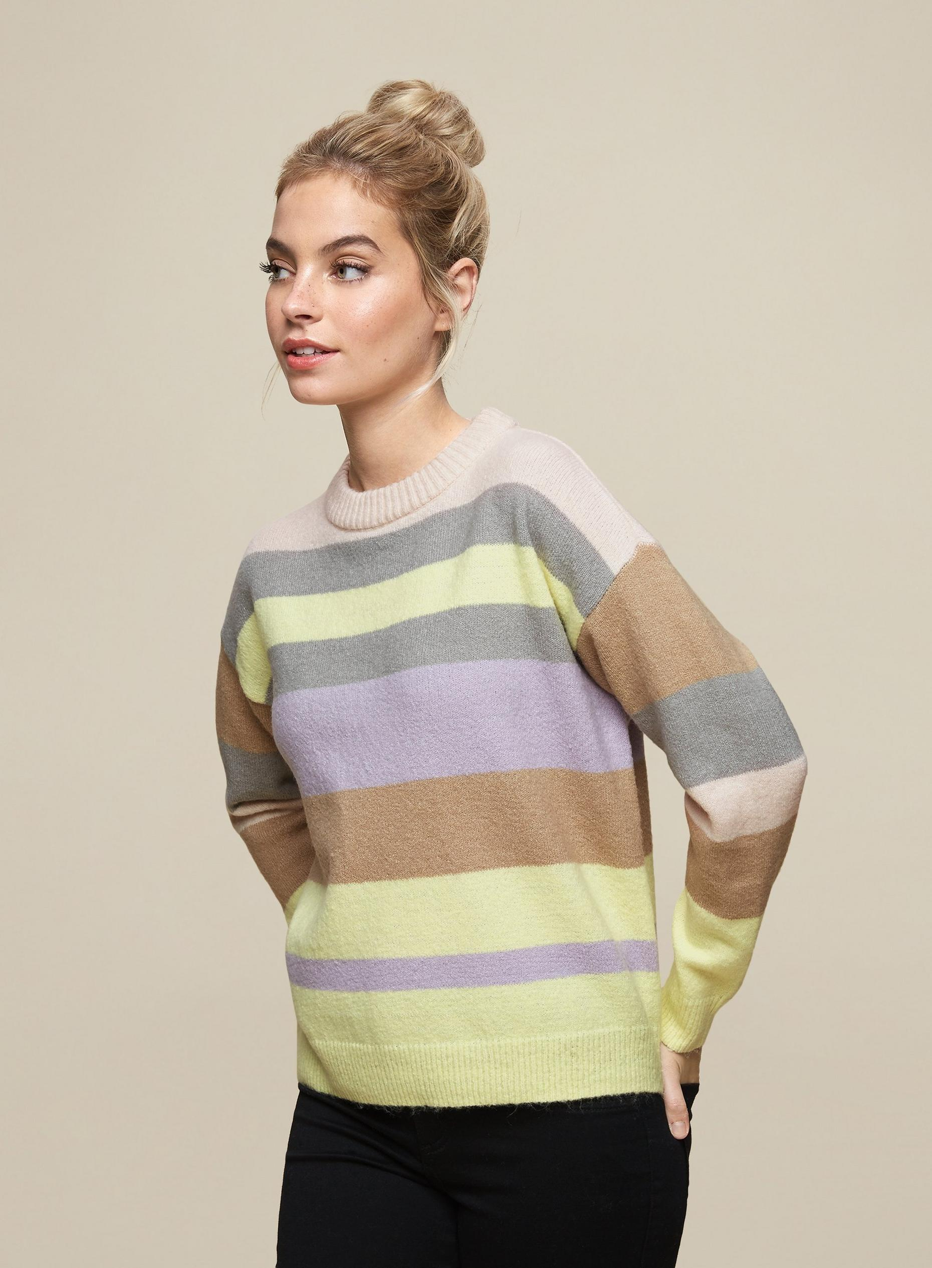 DP Petite Yellow Multi Stripe Jumper
