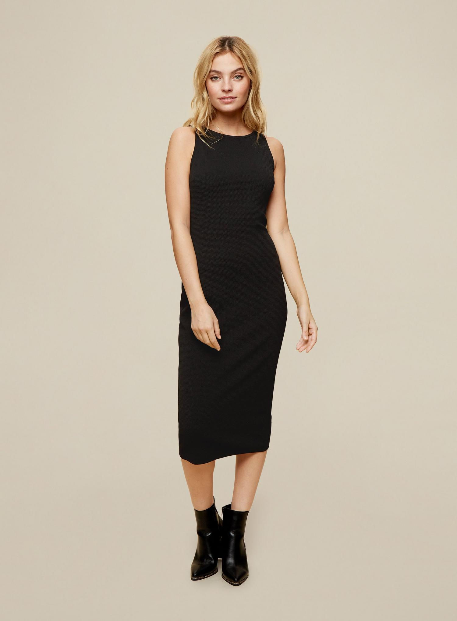 105 Petites Black Bodycon Midi Dress image number 2