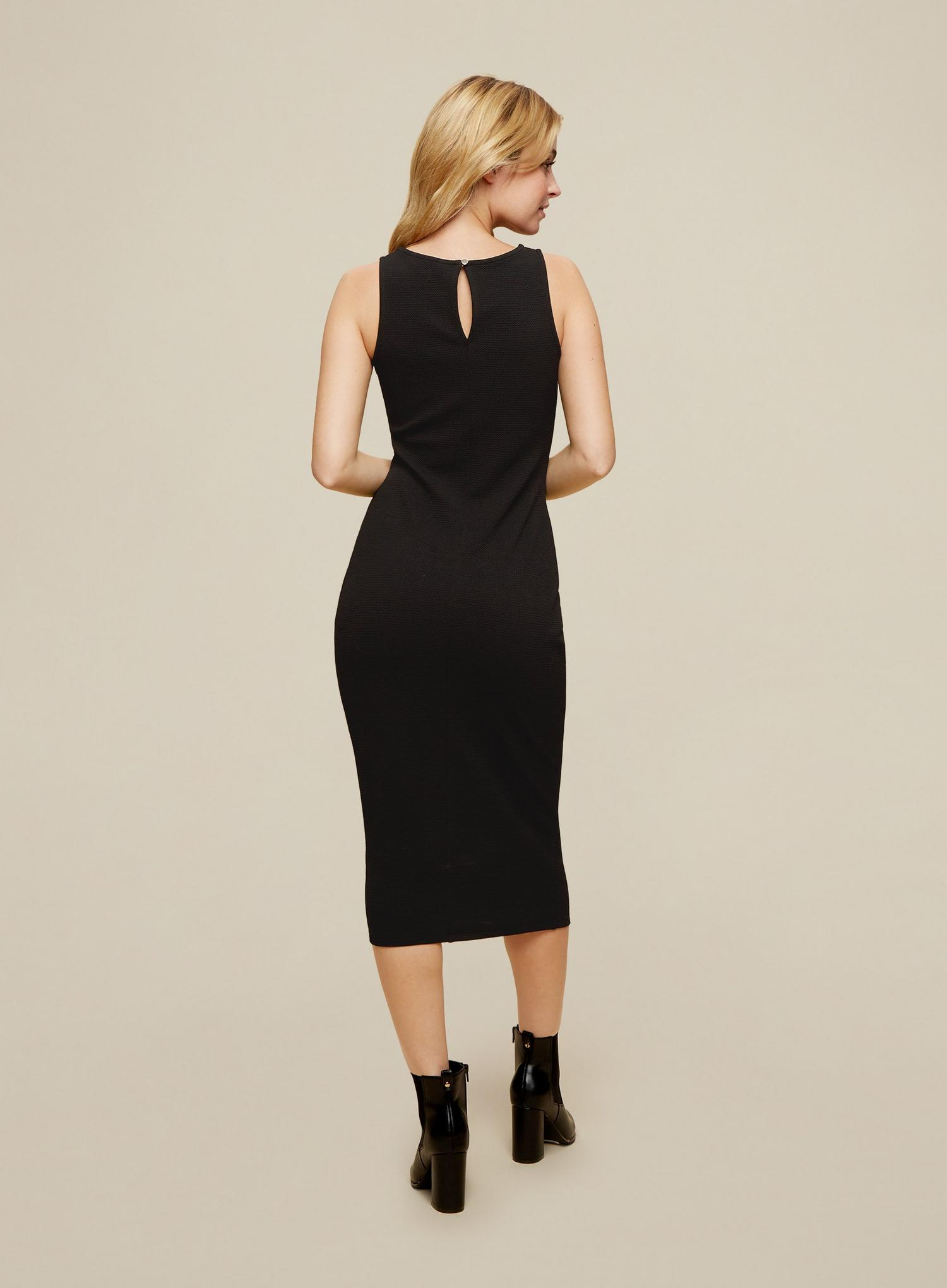 105 Petites Black Bodycon Midi Dress image number 3
