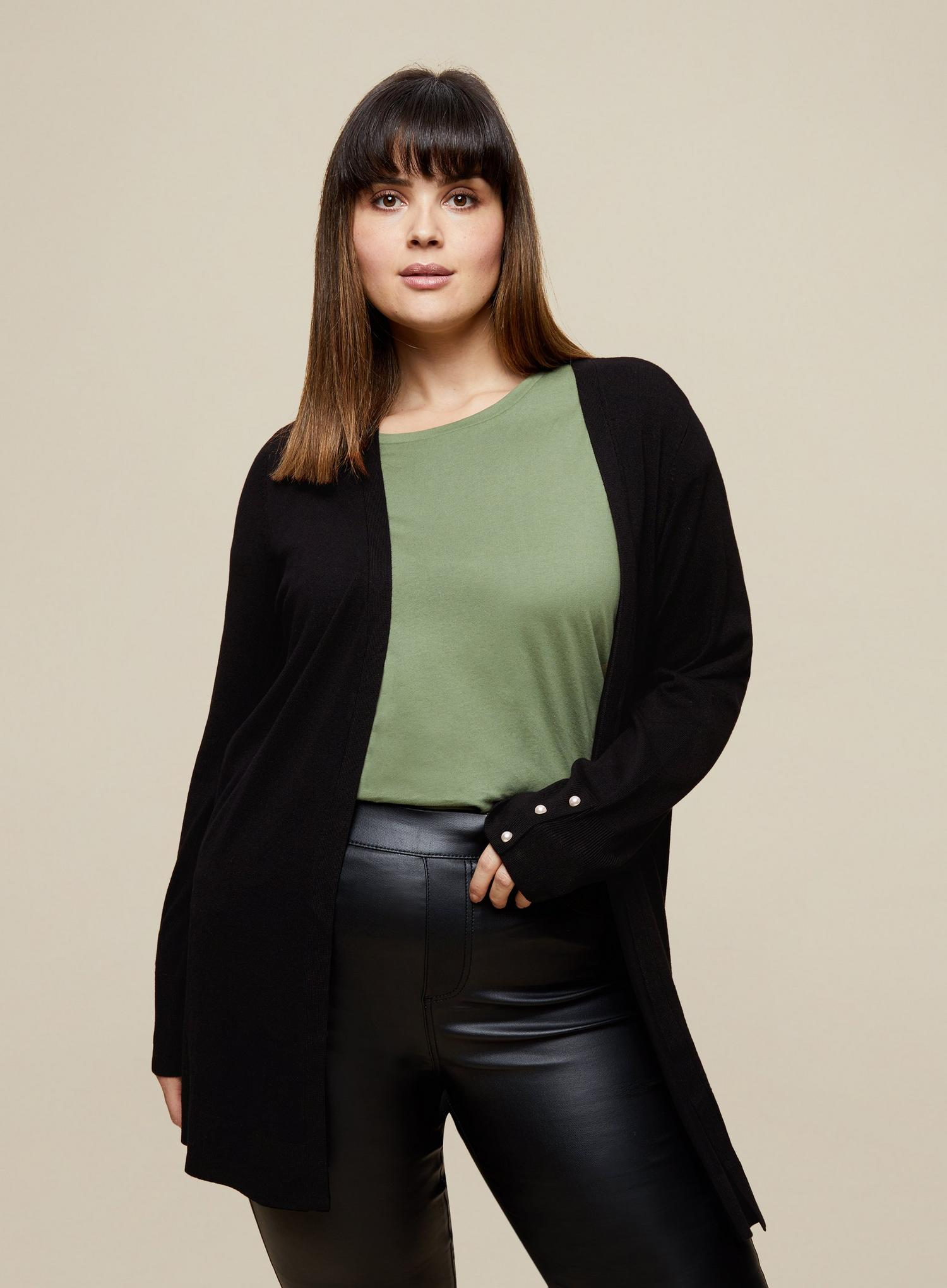 105 Curve Black Cardigan image number 1