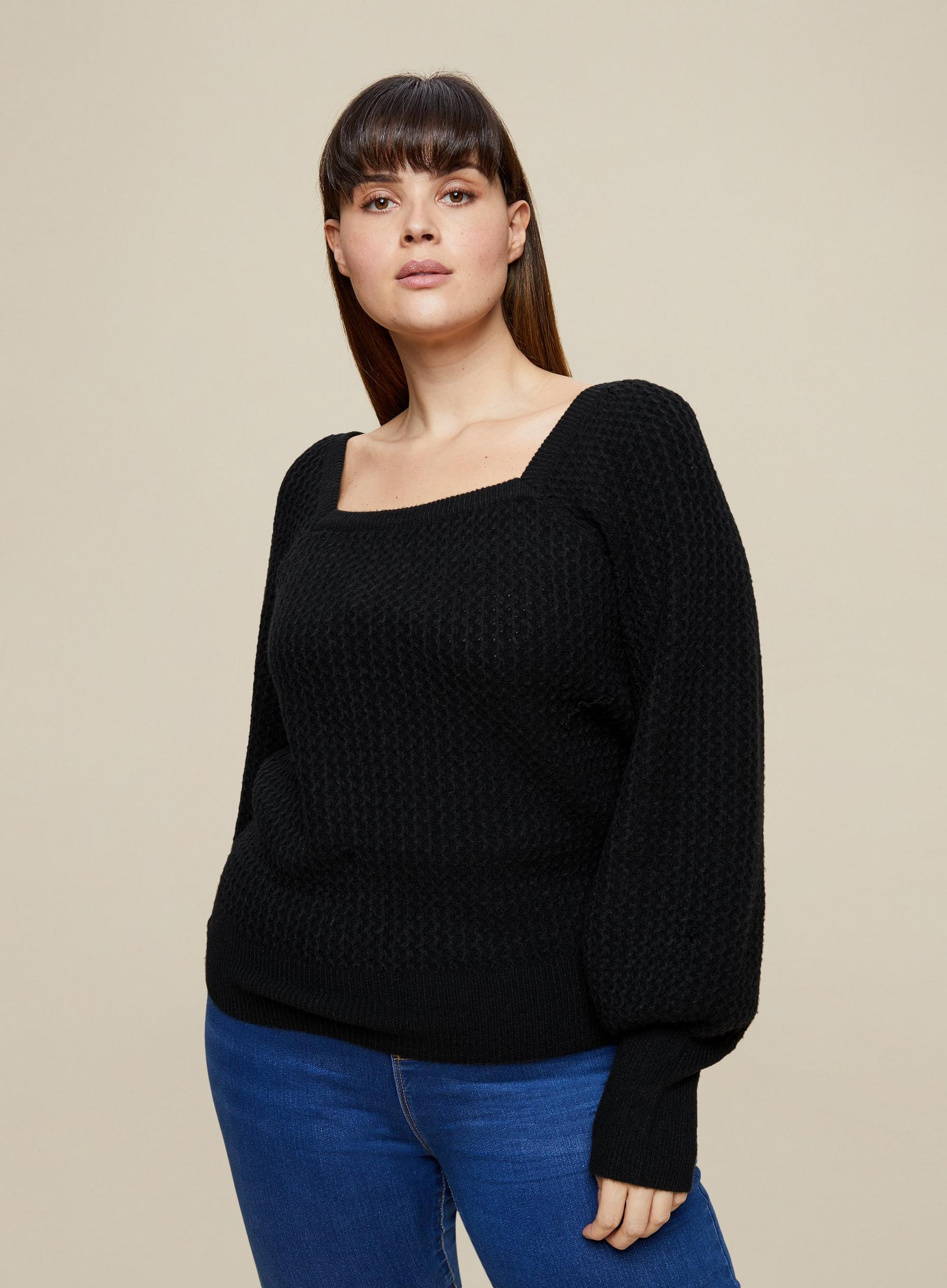Curve Black Knitted Jumper