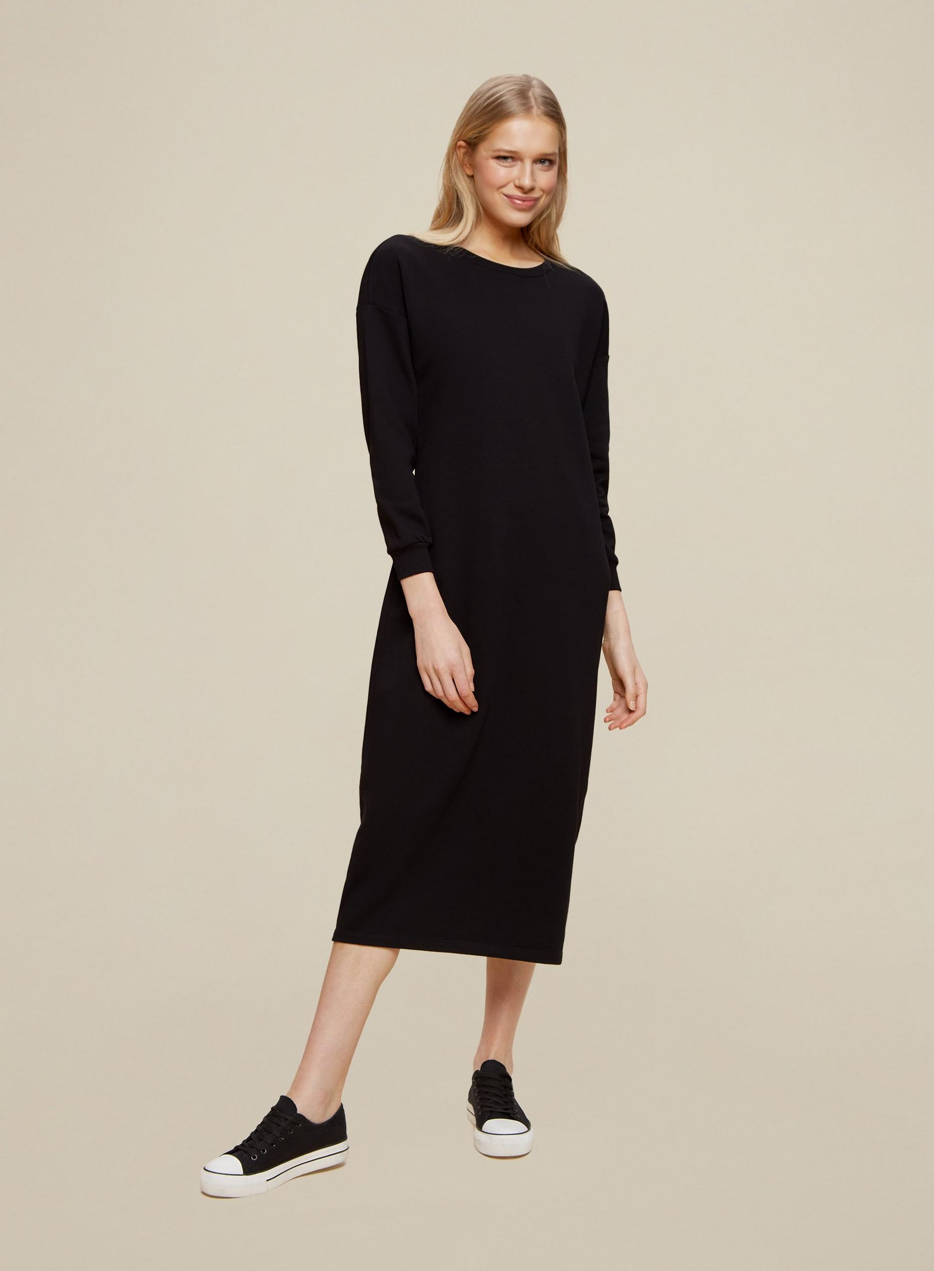 Black Longline Lounge Dress