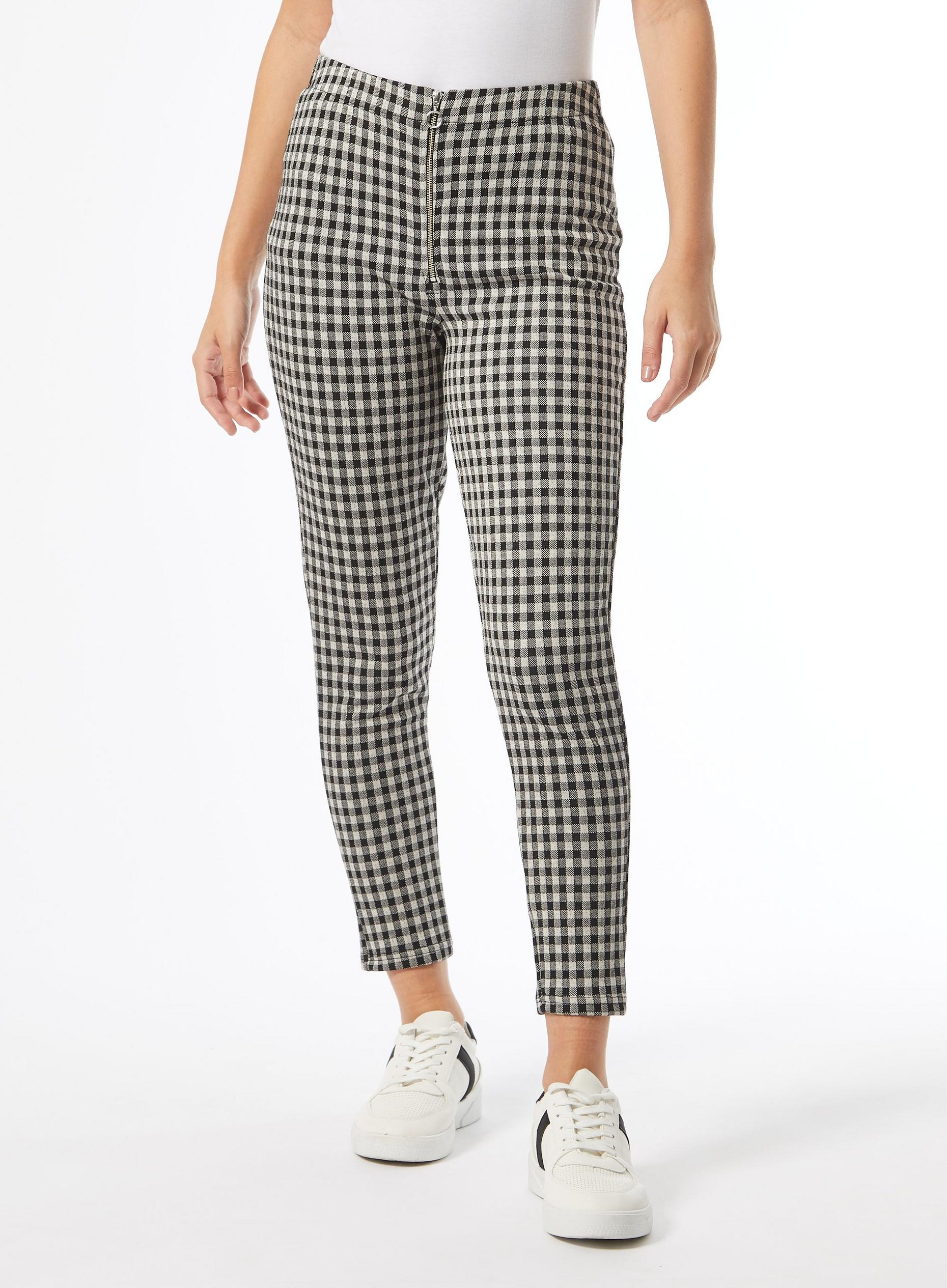 DP Petite Check Jacquard Leggings