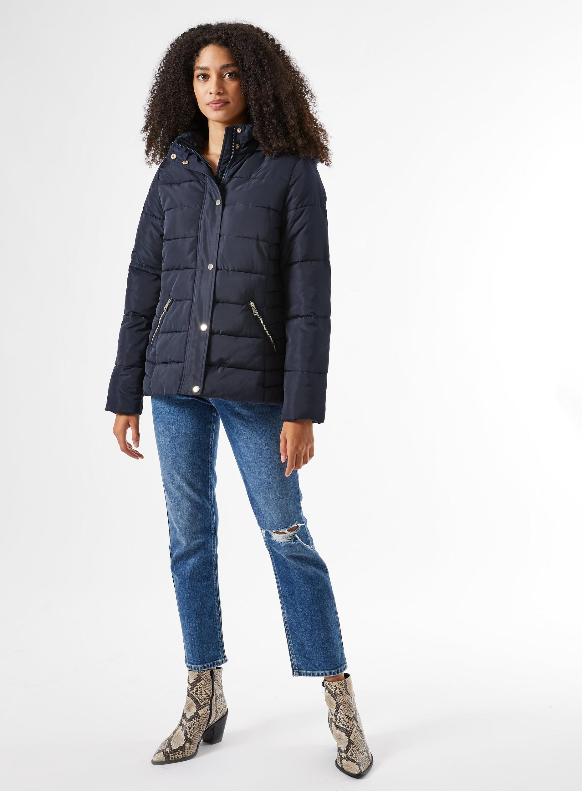 Navy Short Padded Coat
