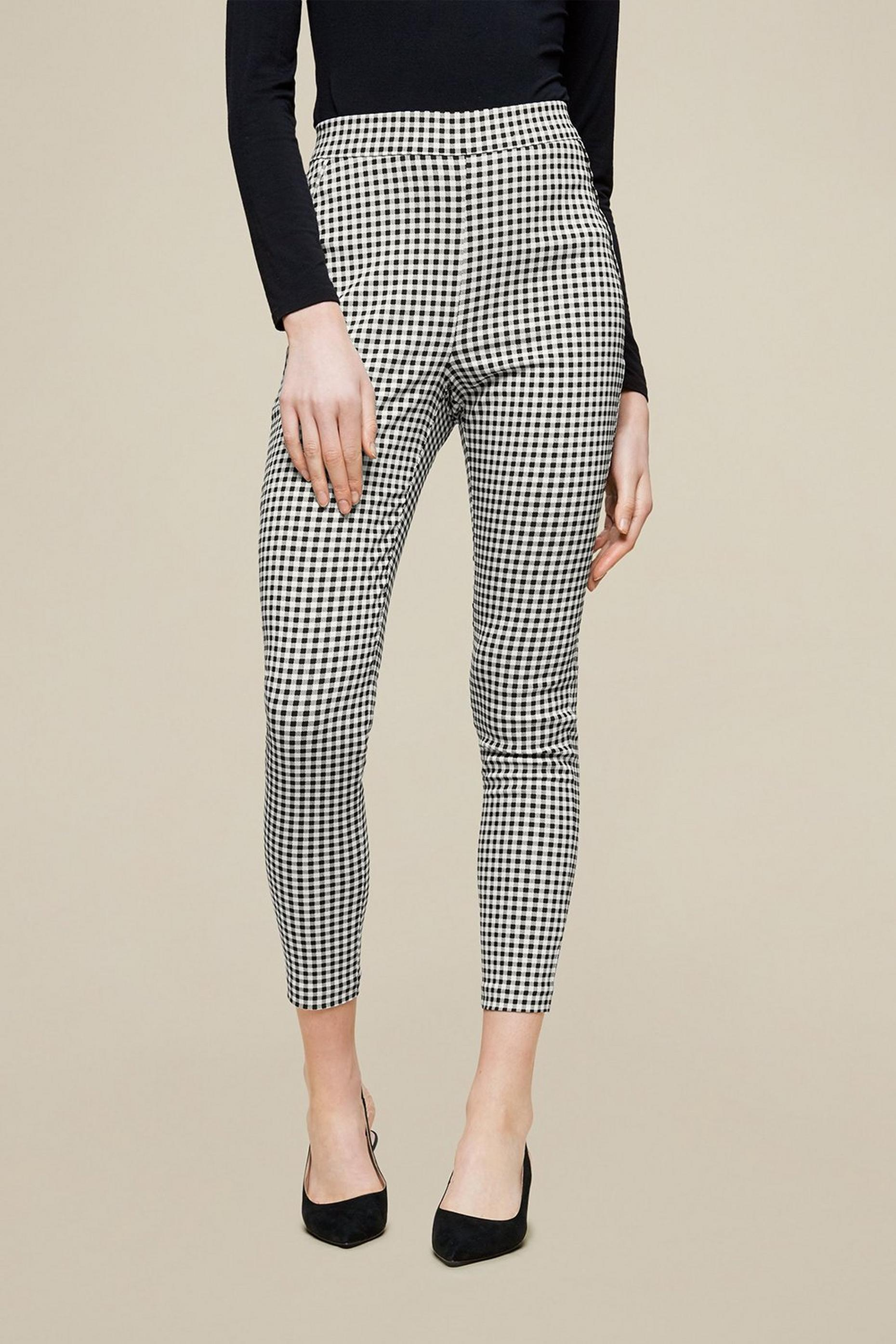 Gingham Skinny Trouser