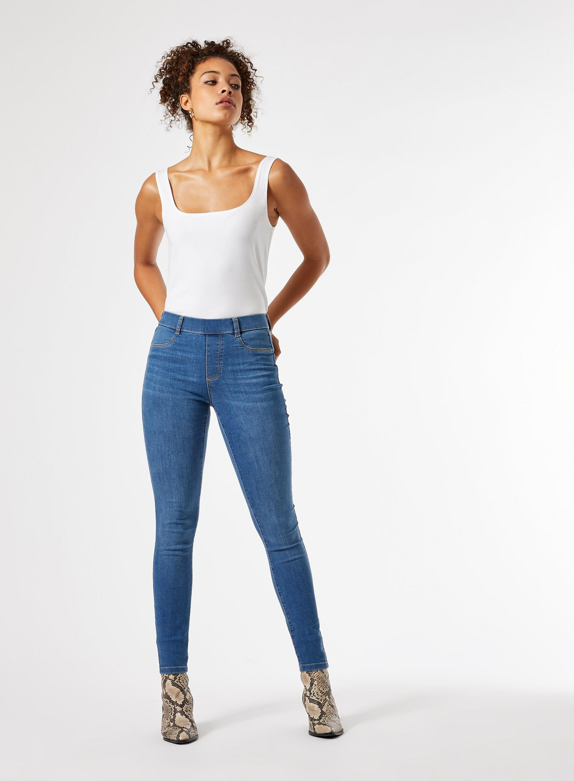Tall Blue Mid Wash Eden Jeans
