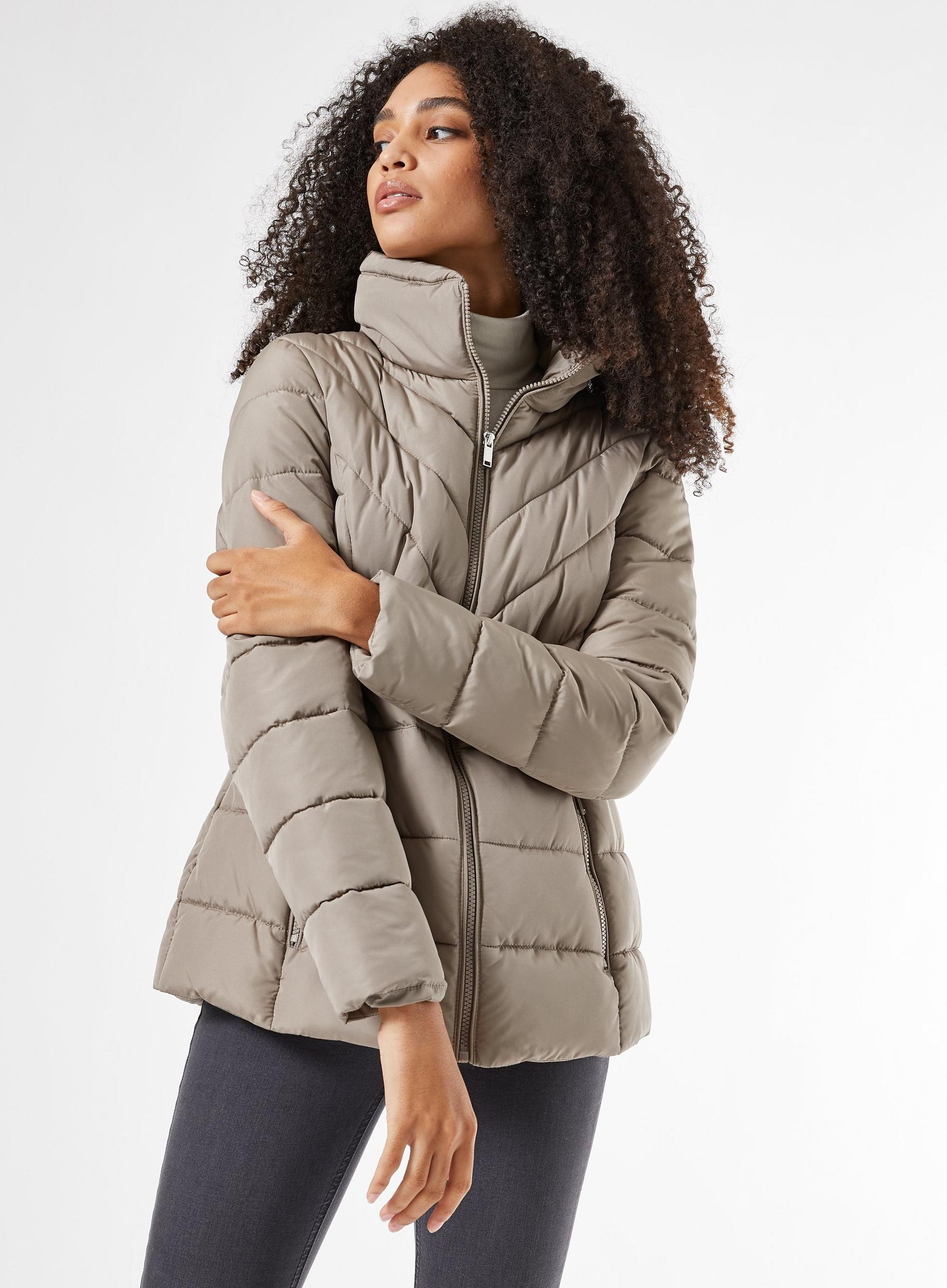 Mink Short Padded Coat