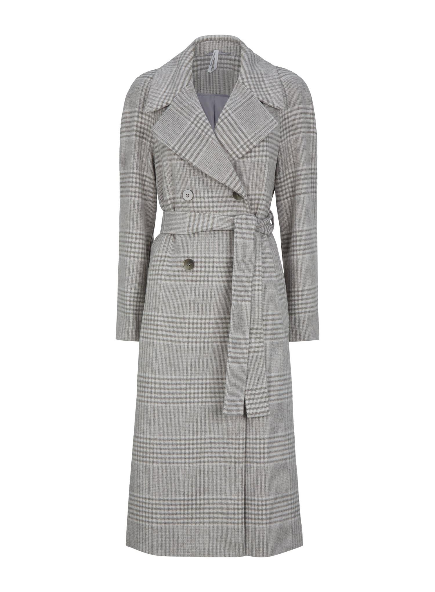 131 Check Double Breasted Wrap Maxi Coat image number 4