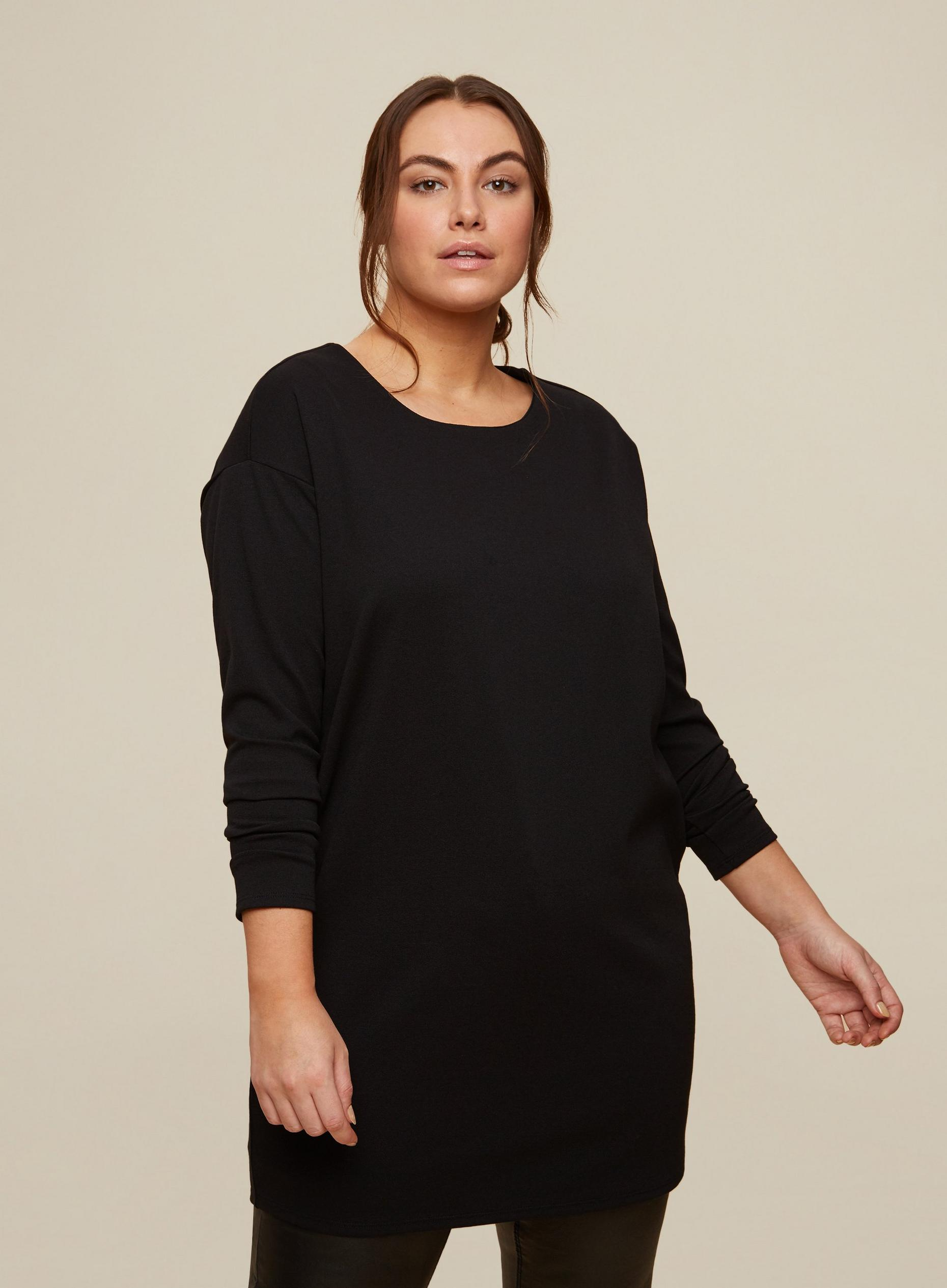 Curve Black Cocoon Dress