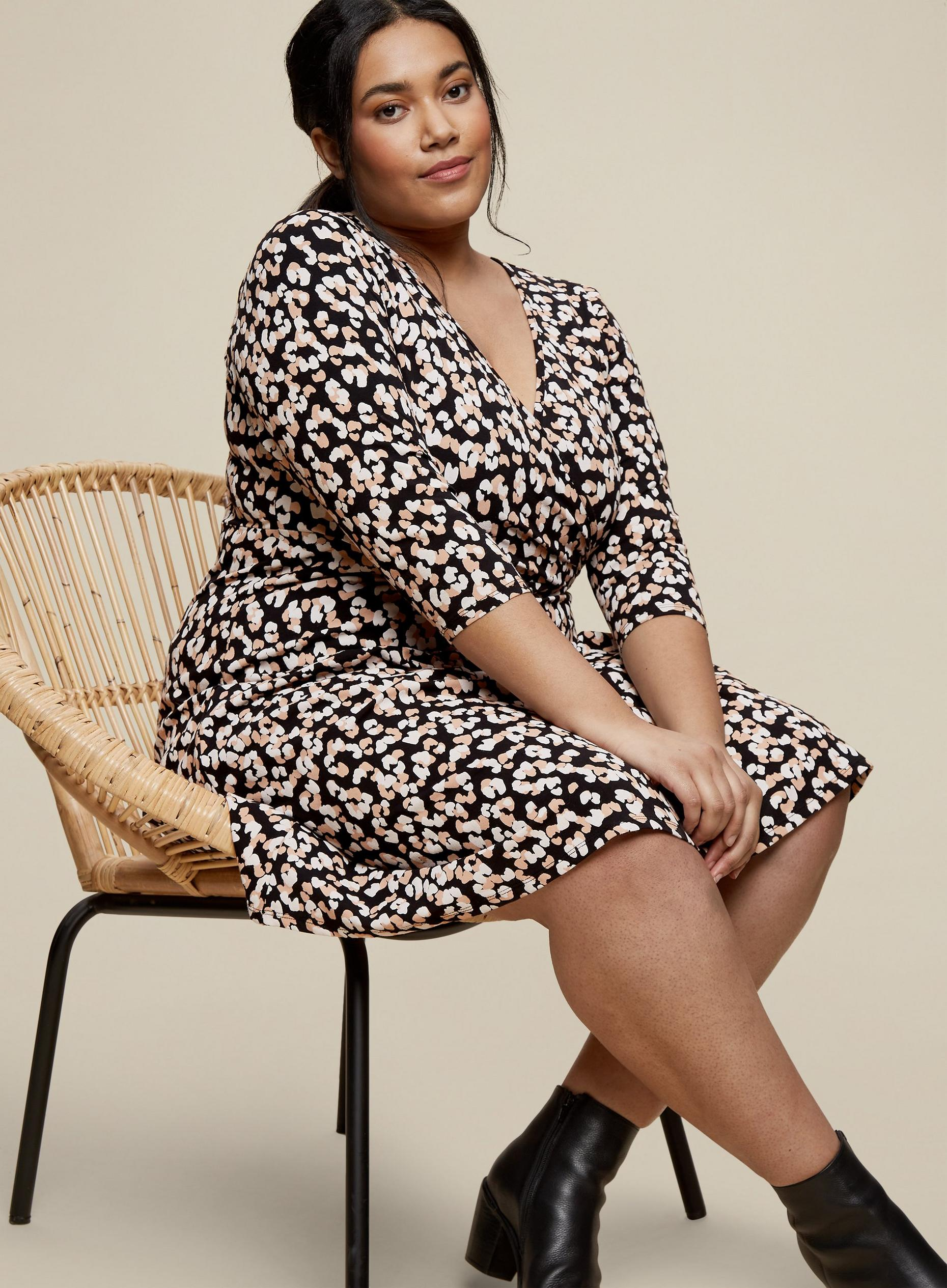 Curve Animal Print Dress