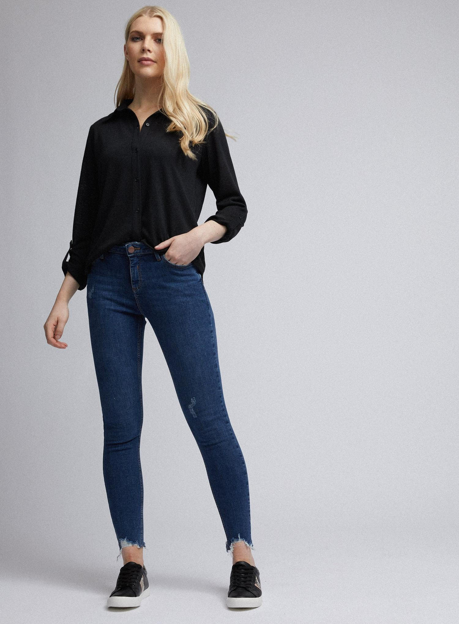 132 Organic Indigo Regular Nibble Darcy Jeans image number 1