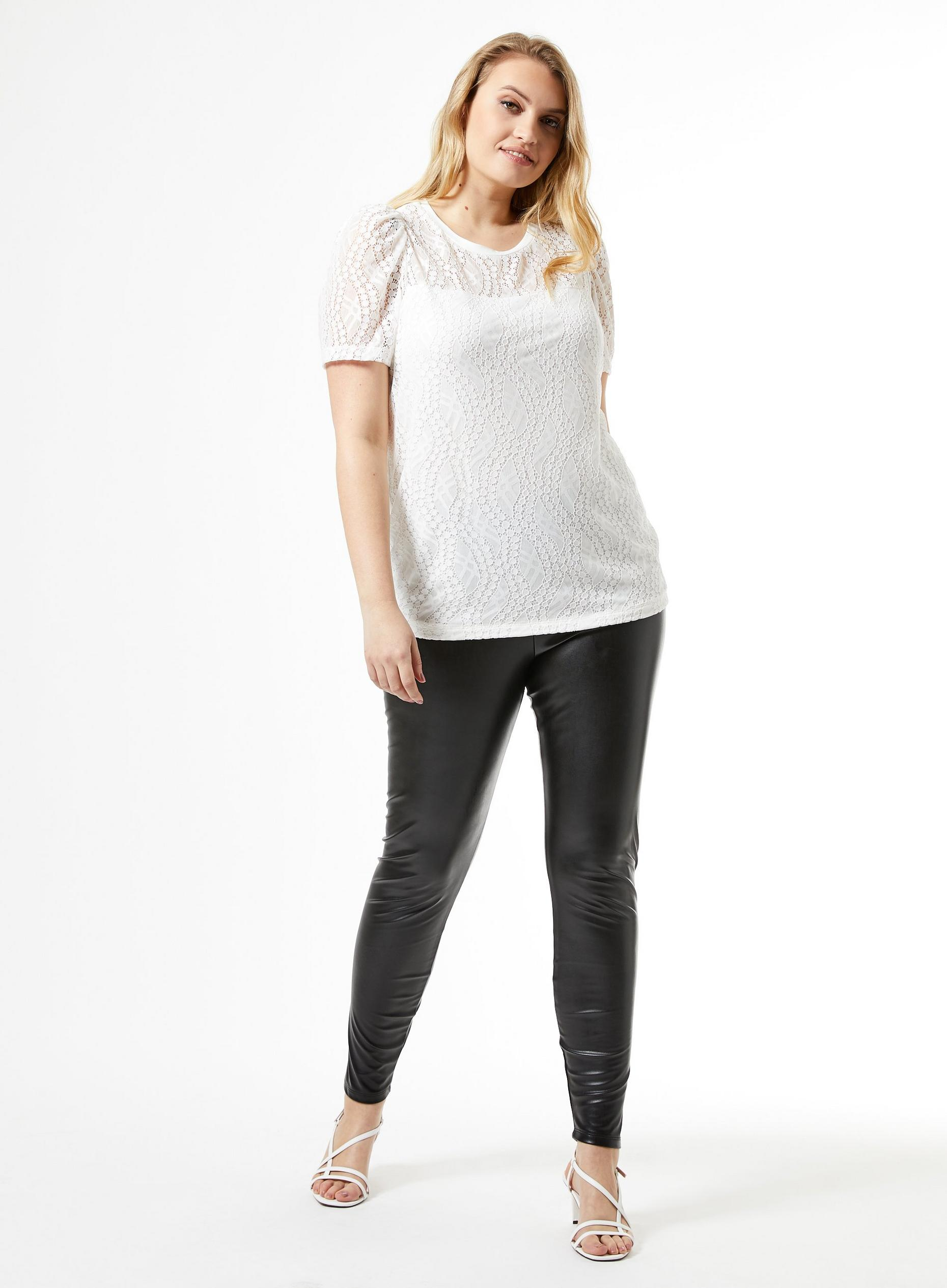 Curve Black PU Leggings