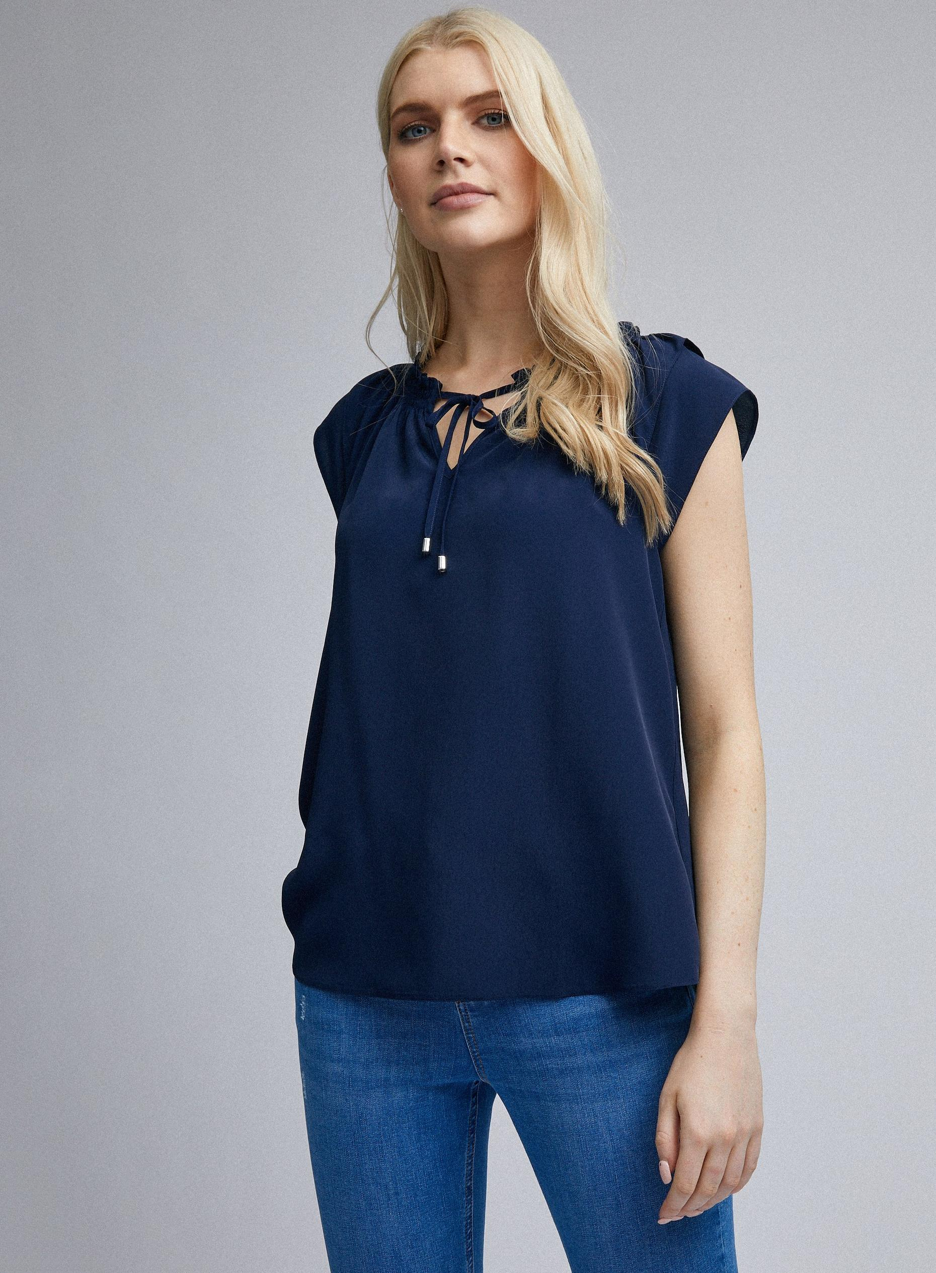 Navy Double Layer Top