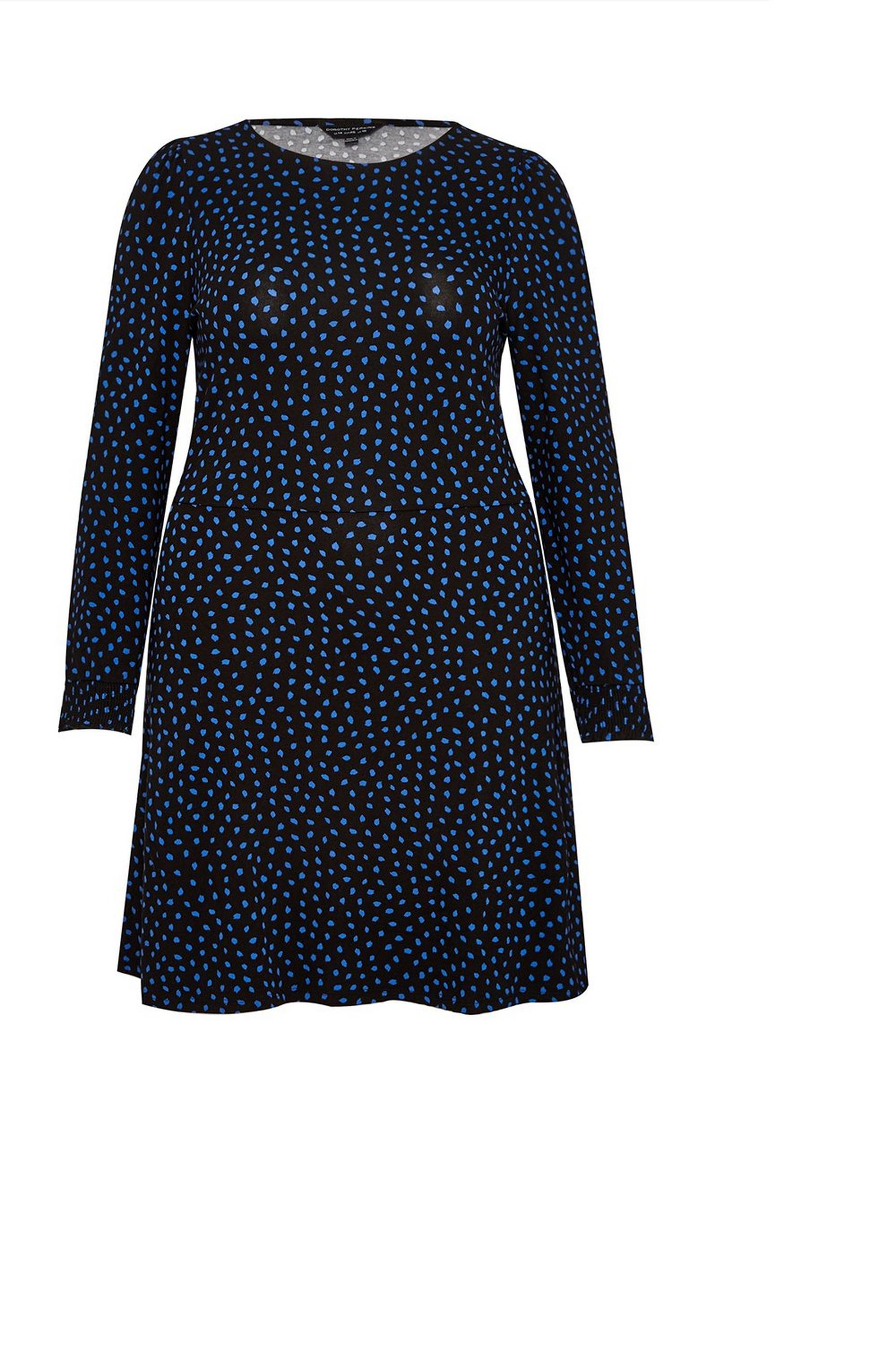 Curve Navy Spot Dress