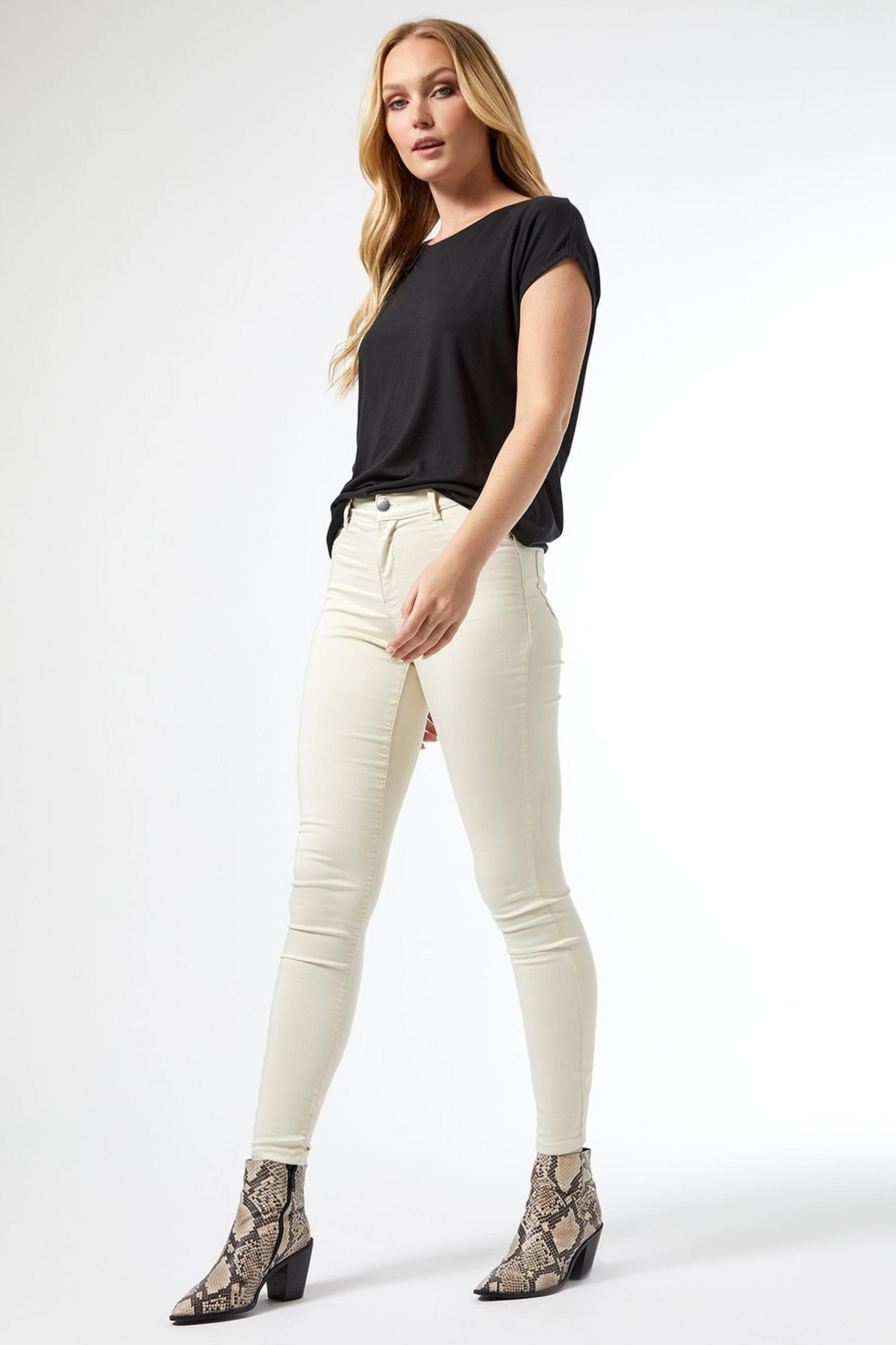 Tall Cream Frankie Denim Jeans