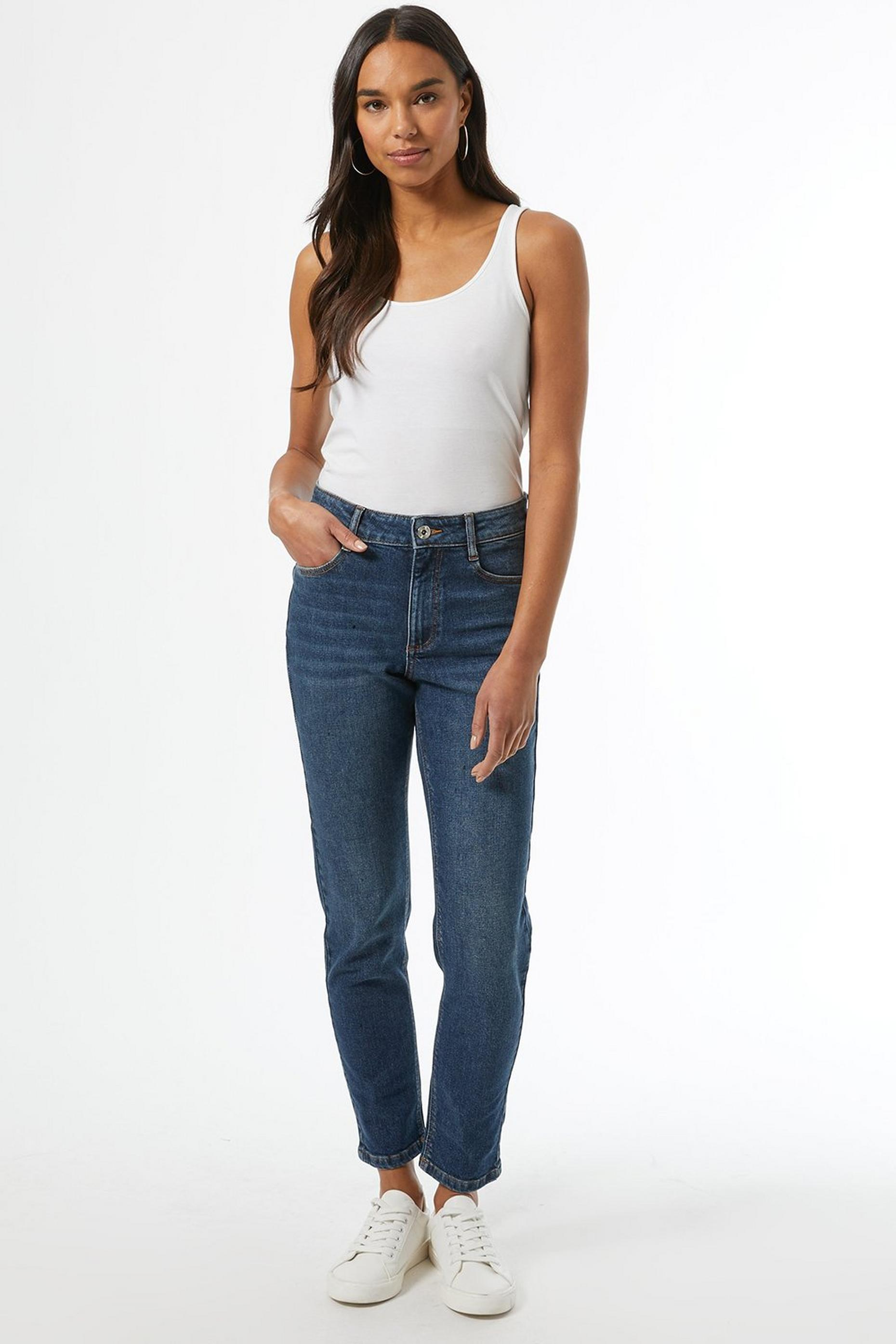 Organic Indigo Regular Mom Jeans