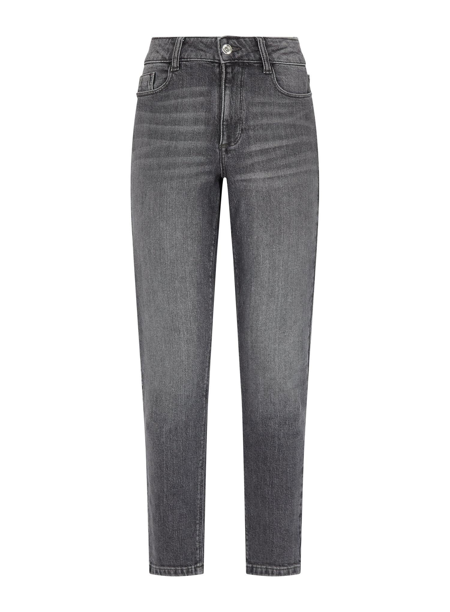 131 Grey Regular Mom Jeans With Organic Cotton image number 2