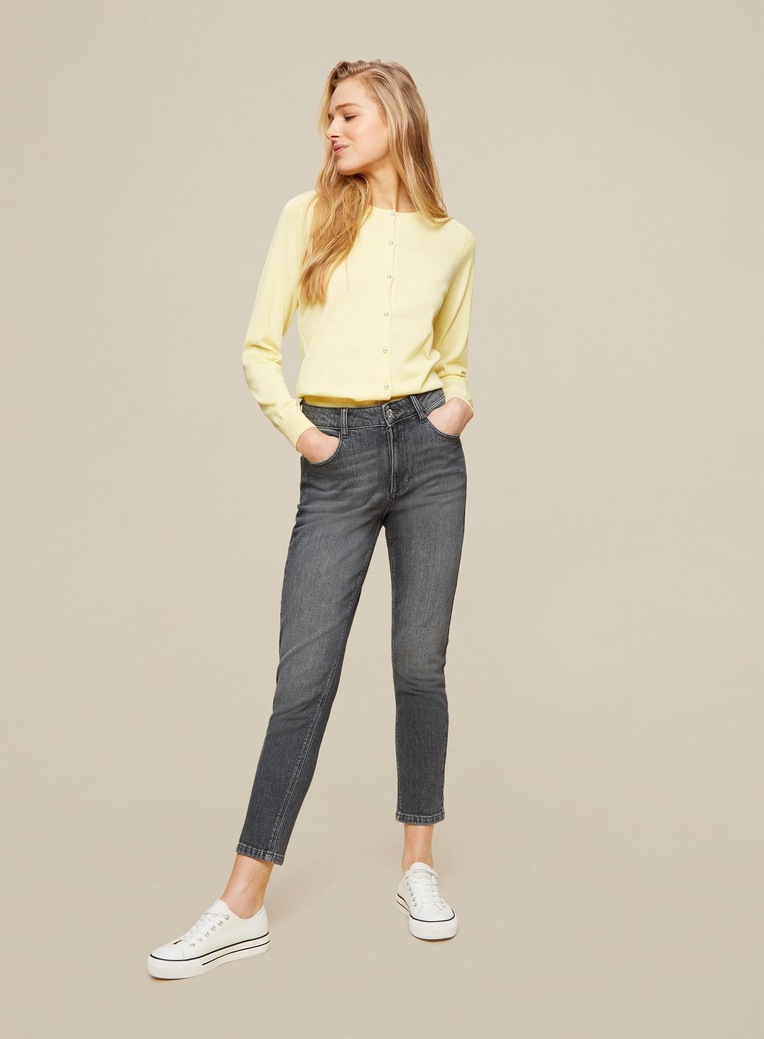131 Grey Regular Mom Jeans With Organic Cotton image number 3