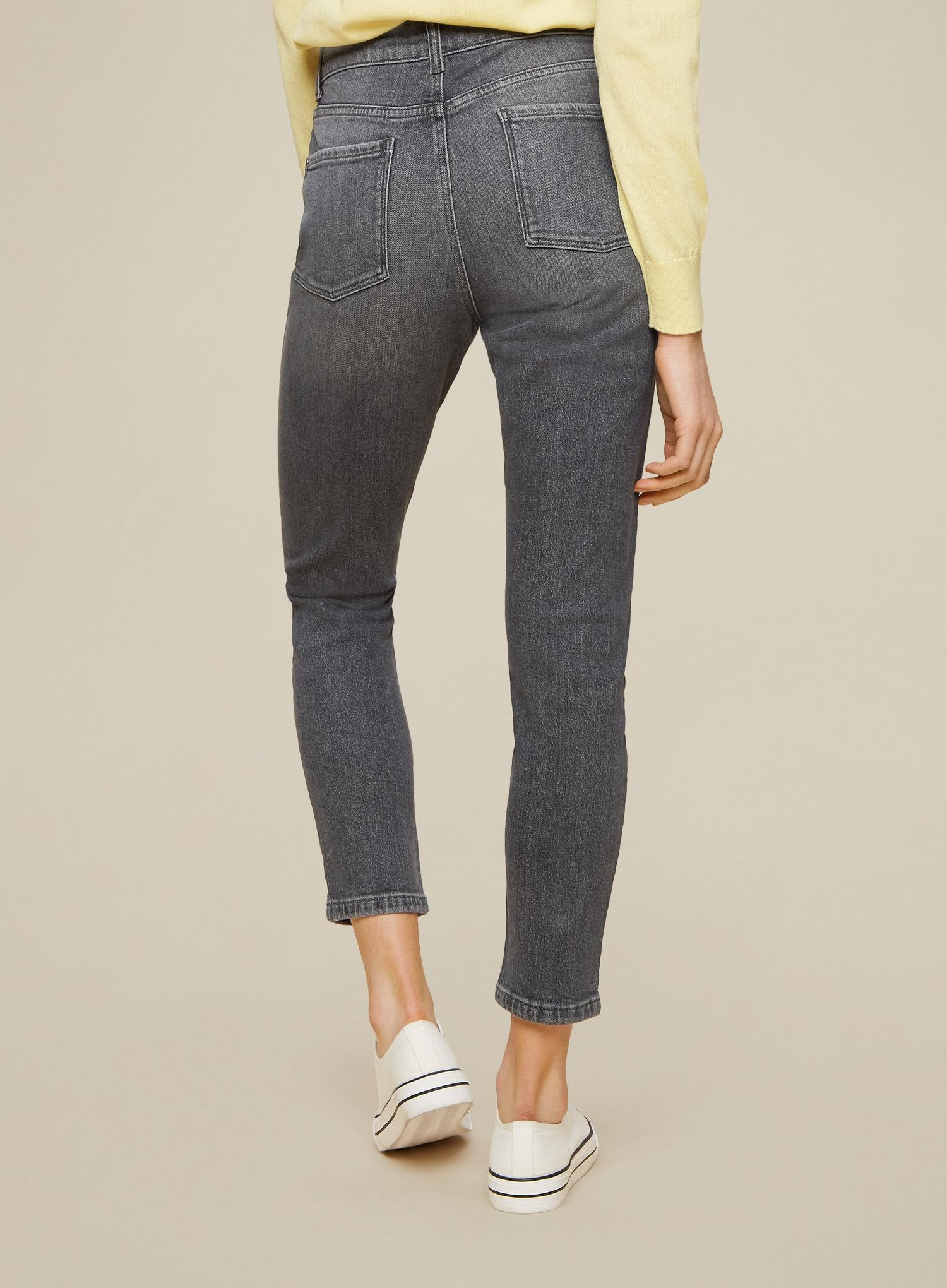 131 Grey Regular Mom Jeans With Organic Cotton image number 4