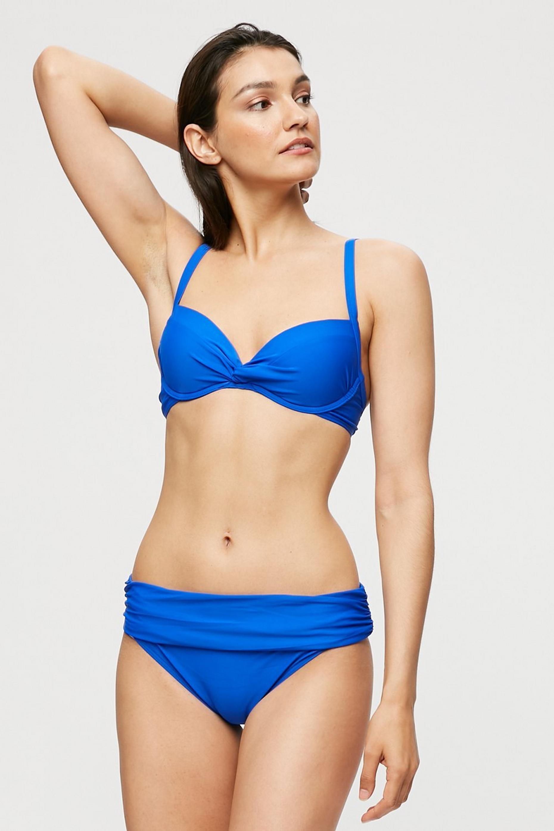 Cobalt Fold Over Bikini Brief