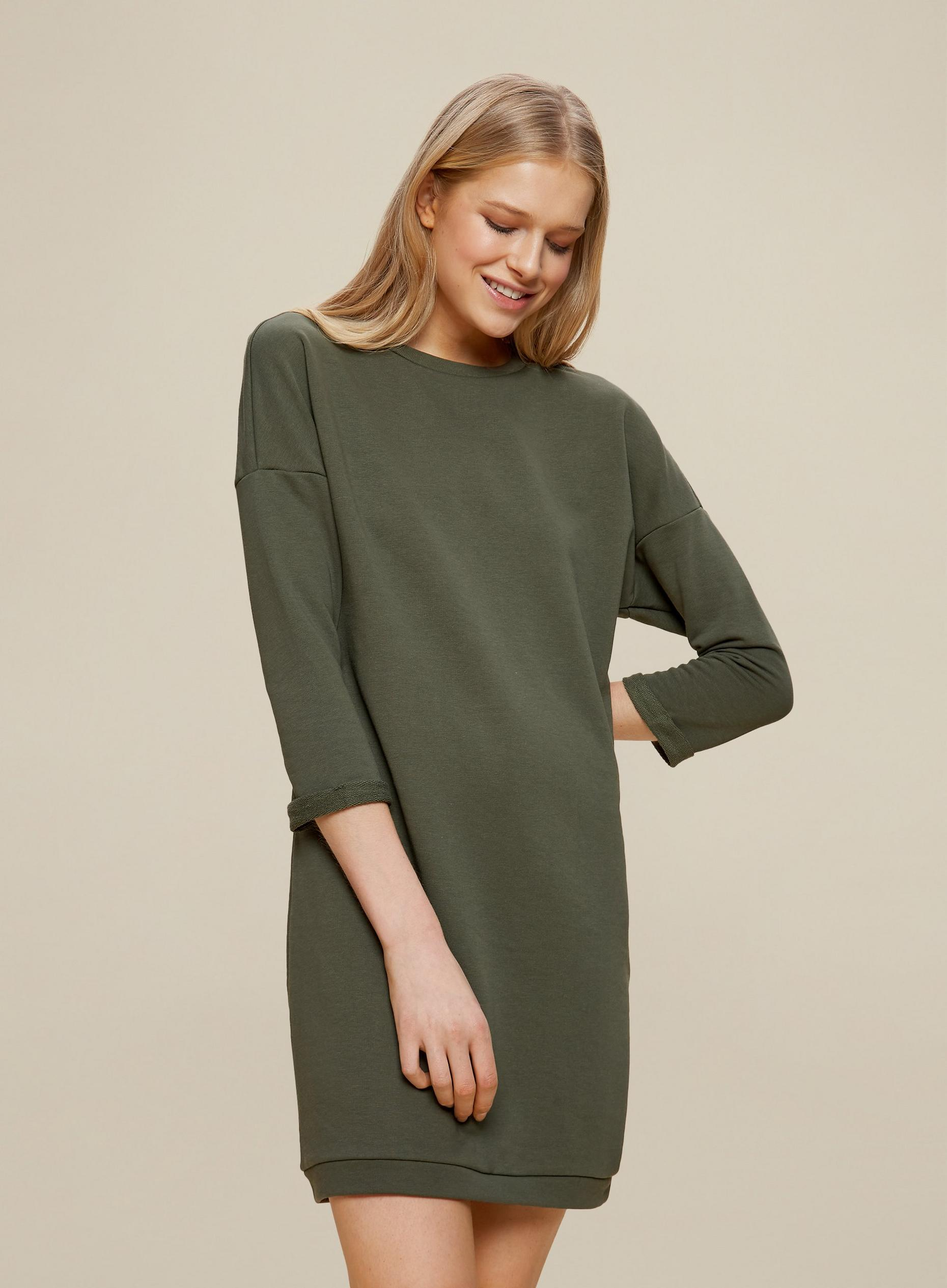 Khaki Lounge Sweat Dress