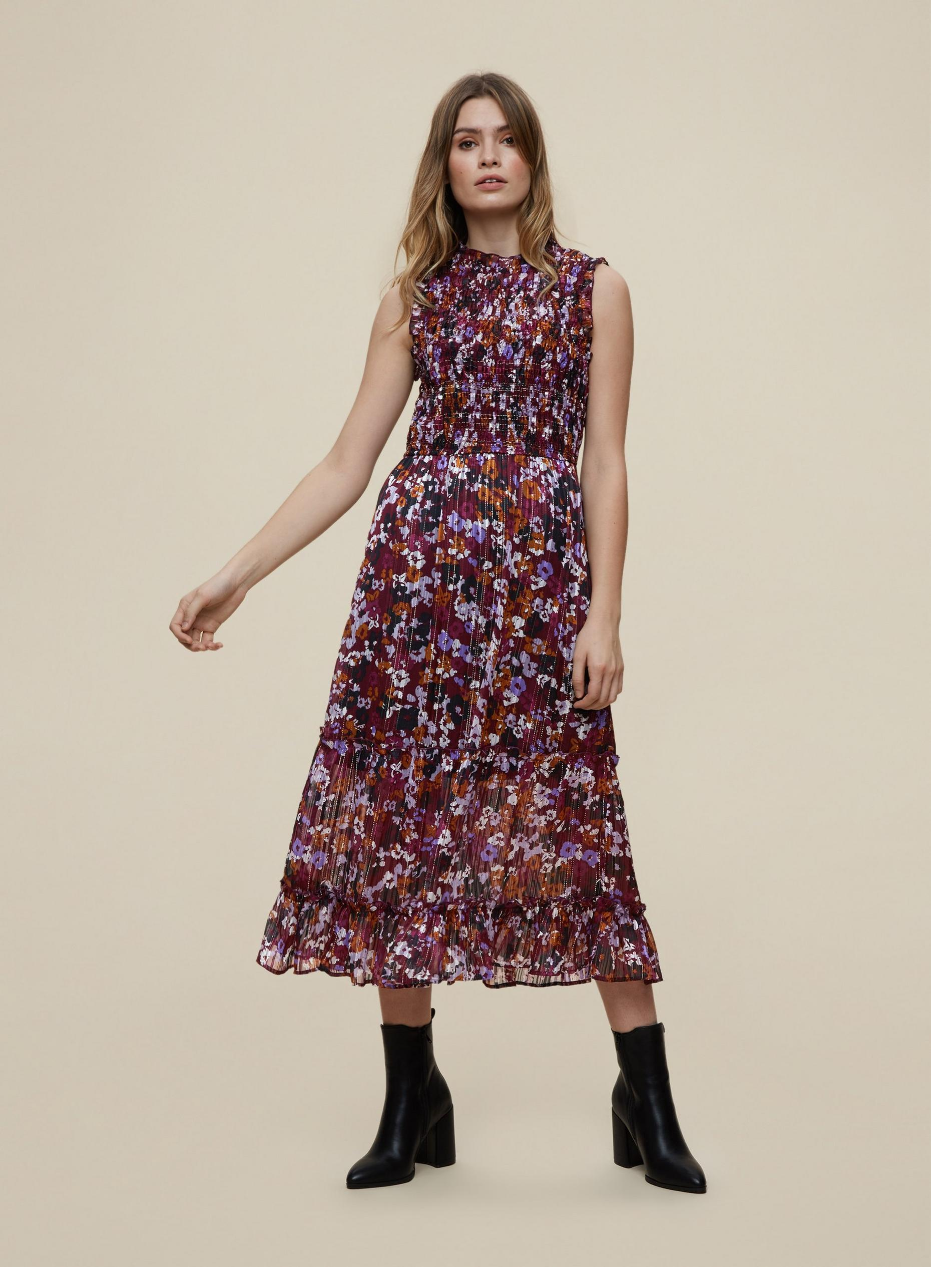 Berry Midi Skater Dress