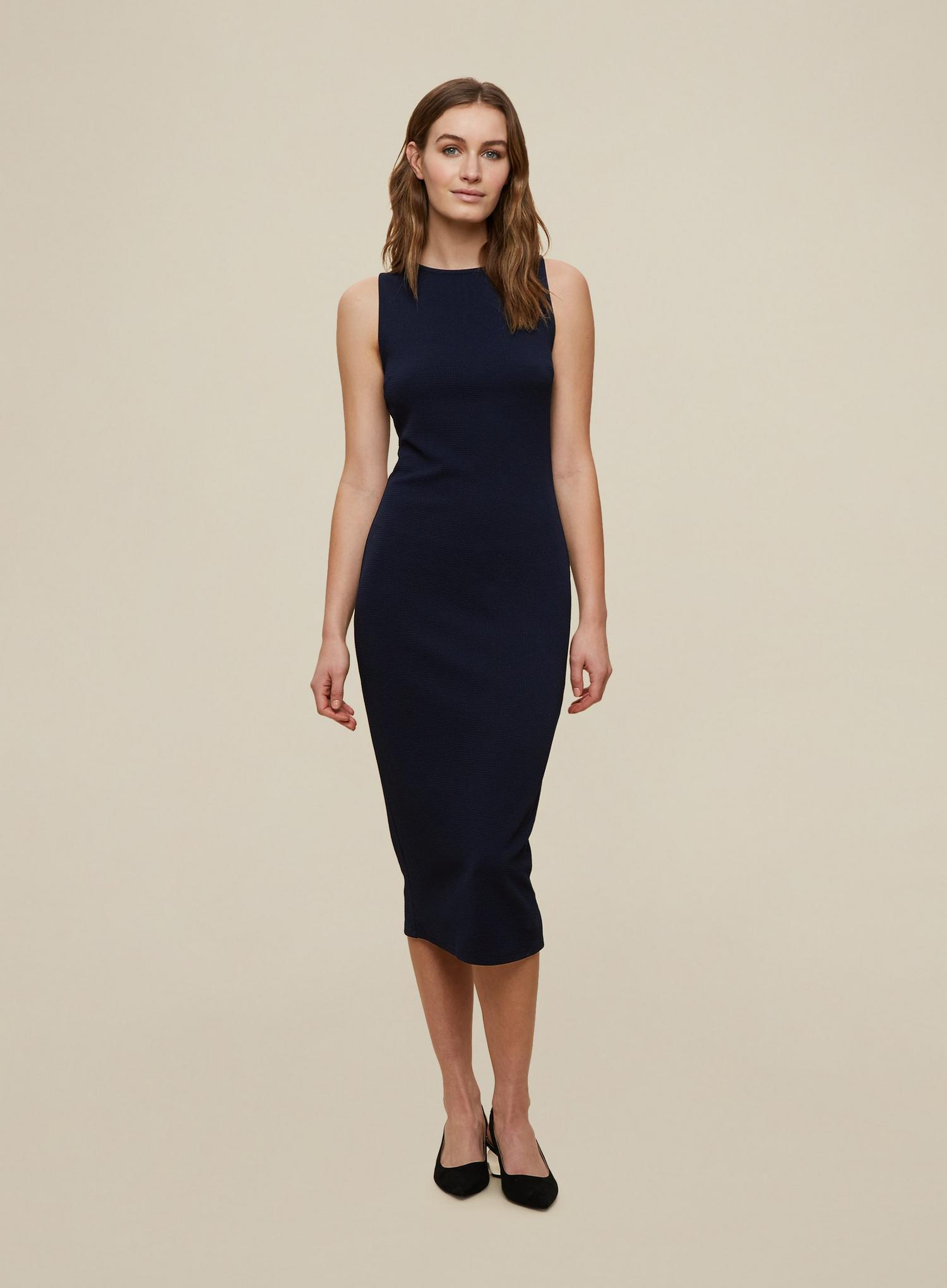 148 Navy Sleeveless Bodycon Dress image number 1