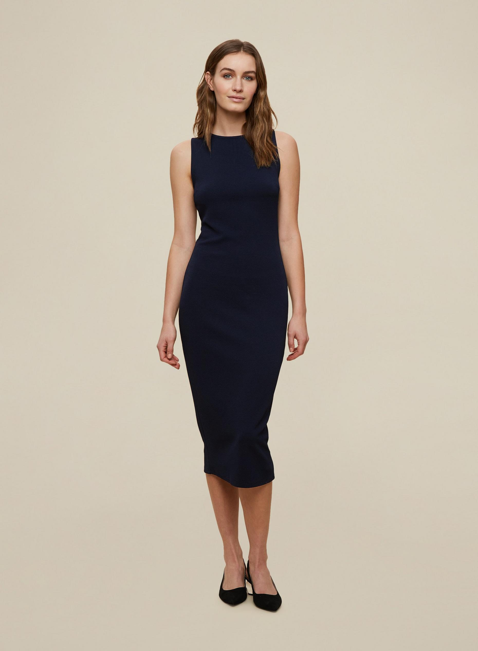 Navy Sleeveless Bodycon Dress
