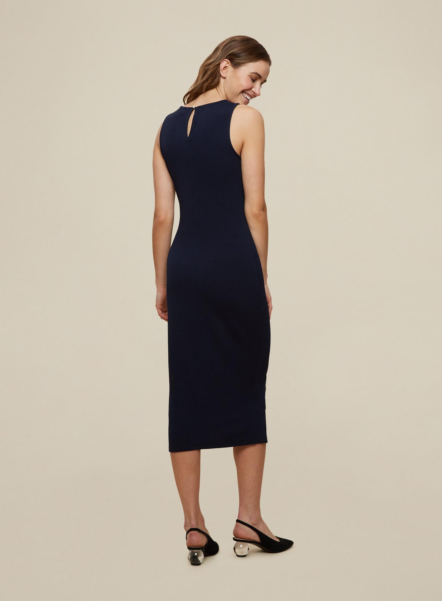 148 Navy Sleeveless Bodycon Dress image number 2