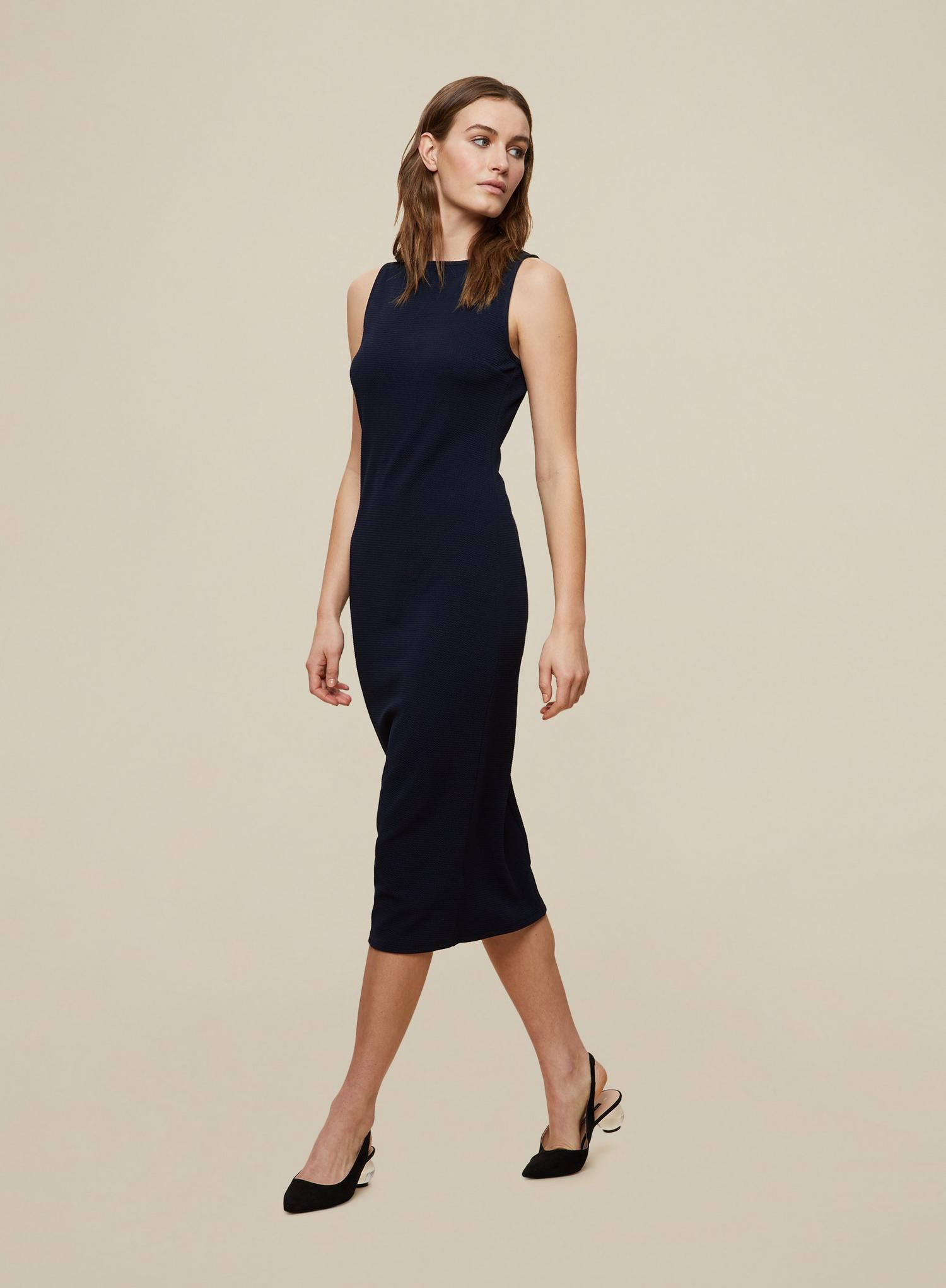 148 Navy Sleeveless Bodycon Dress image number 4