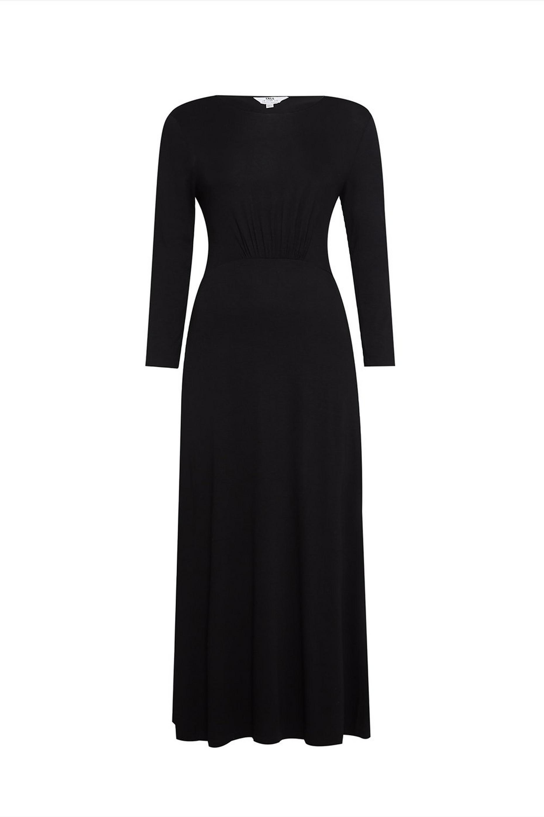 Tall BlackThree Quarter Sleeve Maxi Dress