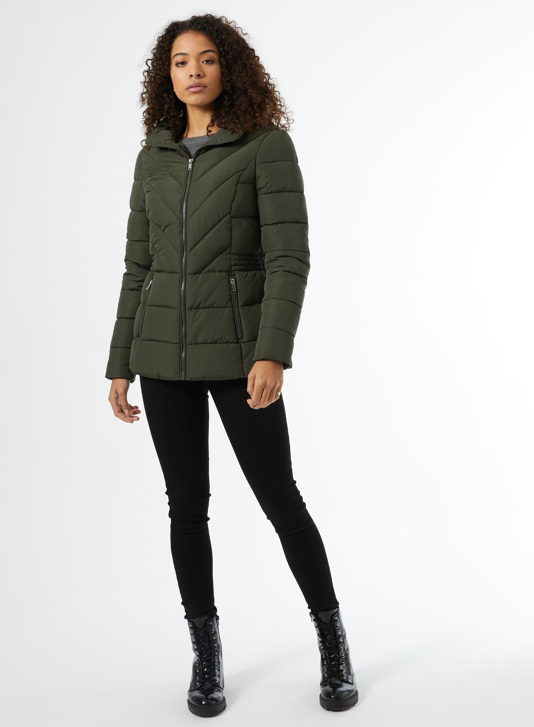 Tall Khaki Padded Coat