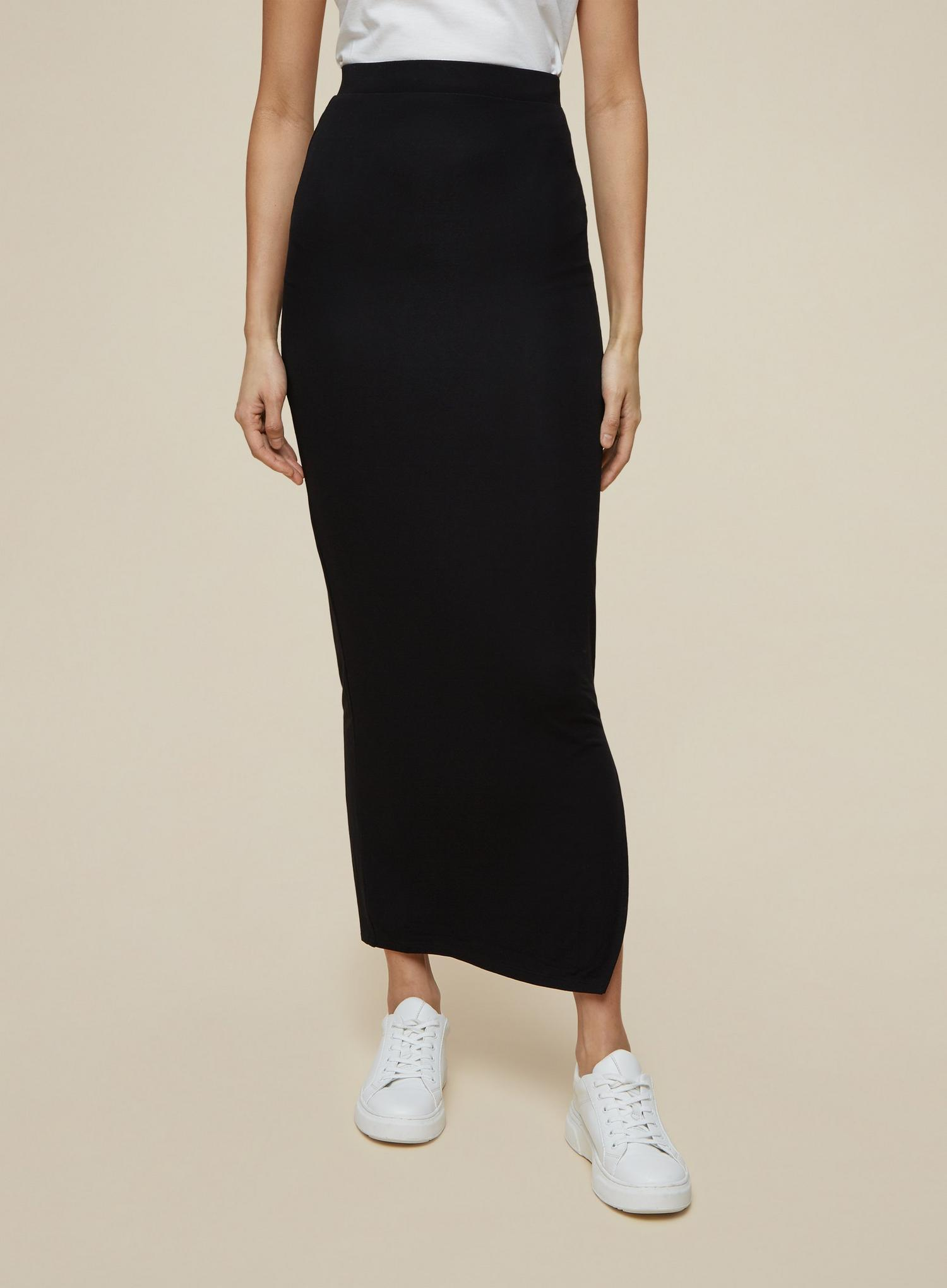 105 Tall Black Maxi Skirt image number 1