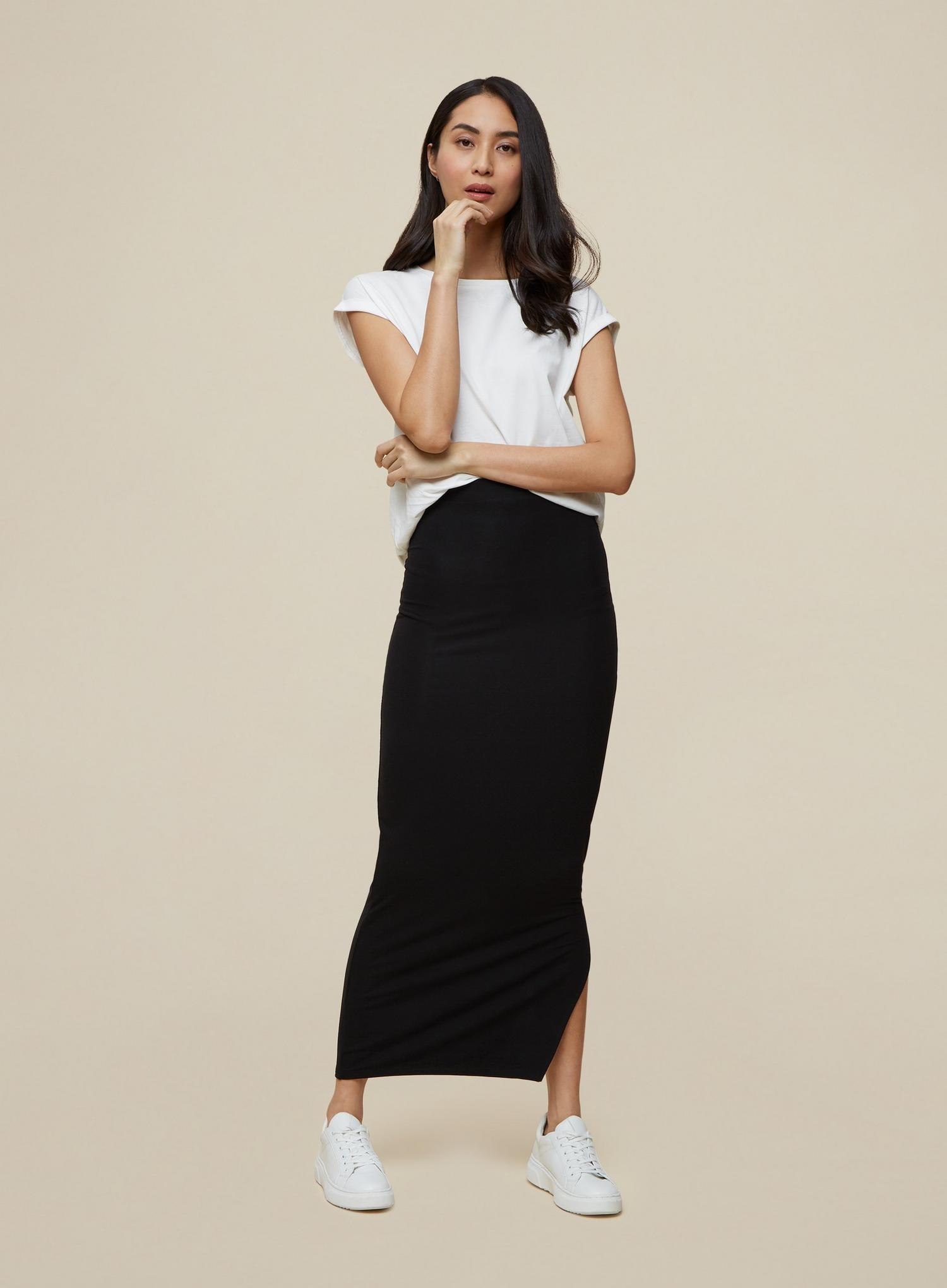 105 Tall Black Maxi Skirt image number 2